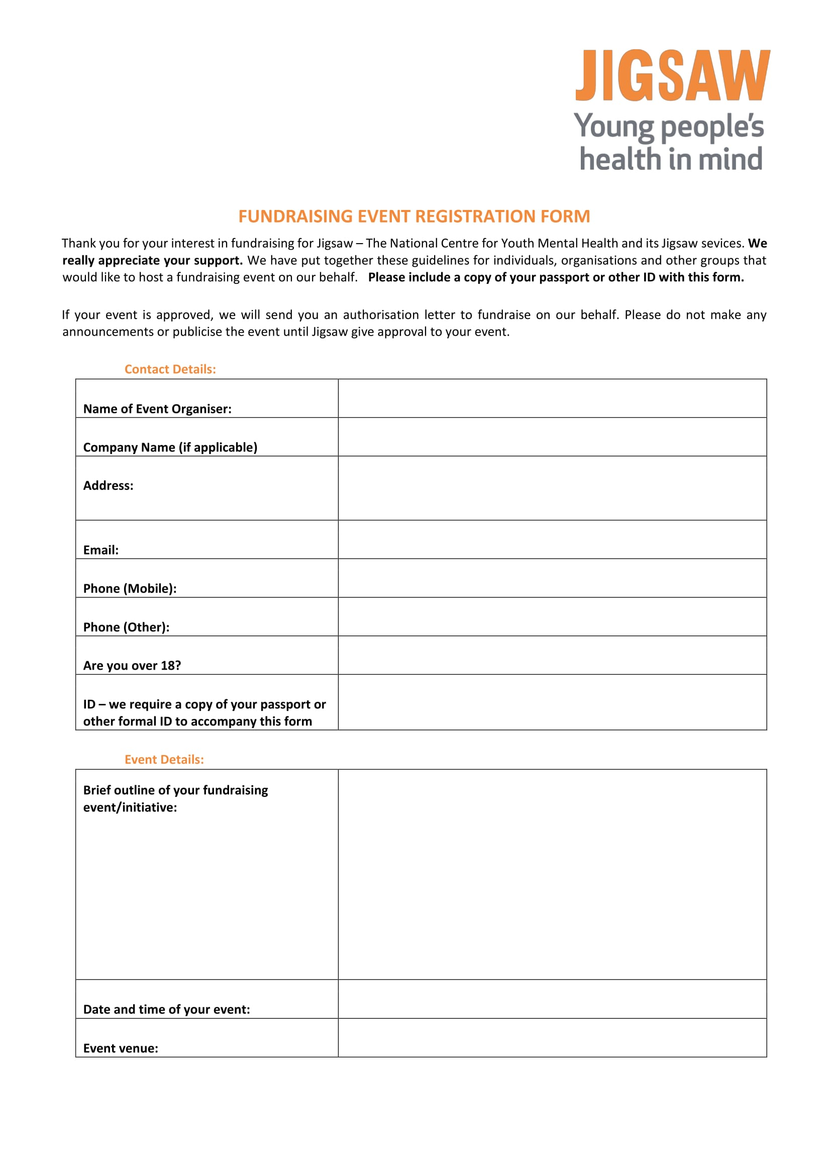 fundraising event registration form 1