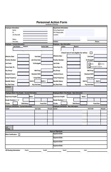 general action form