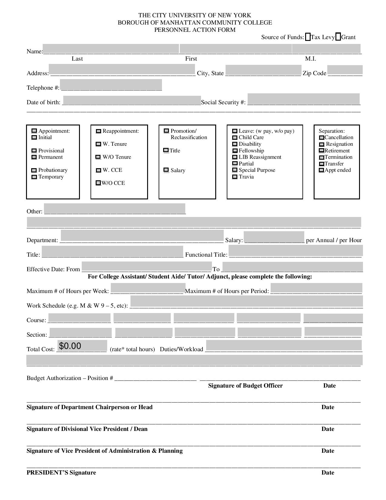 general personnel action form in pdf page 0011