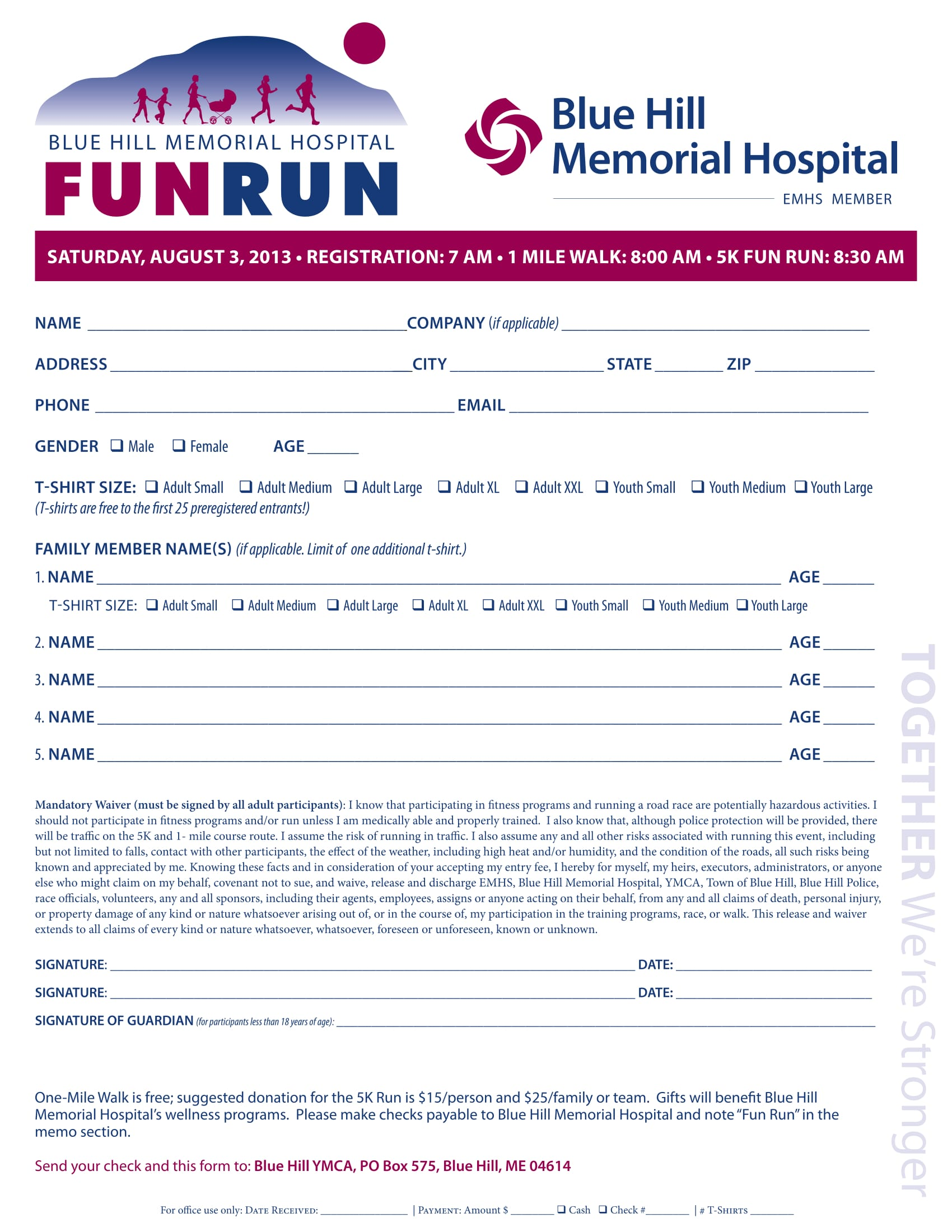 hospital funrun registration form 1