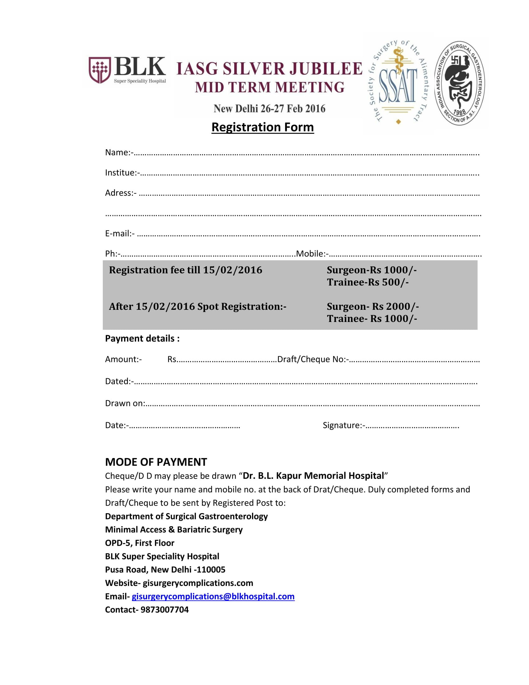 hospital meeting registration form 1