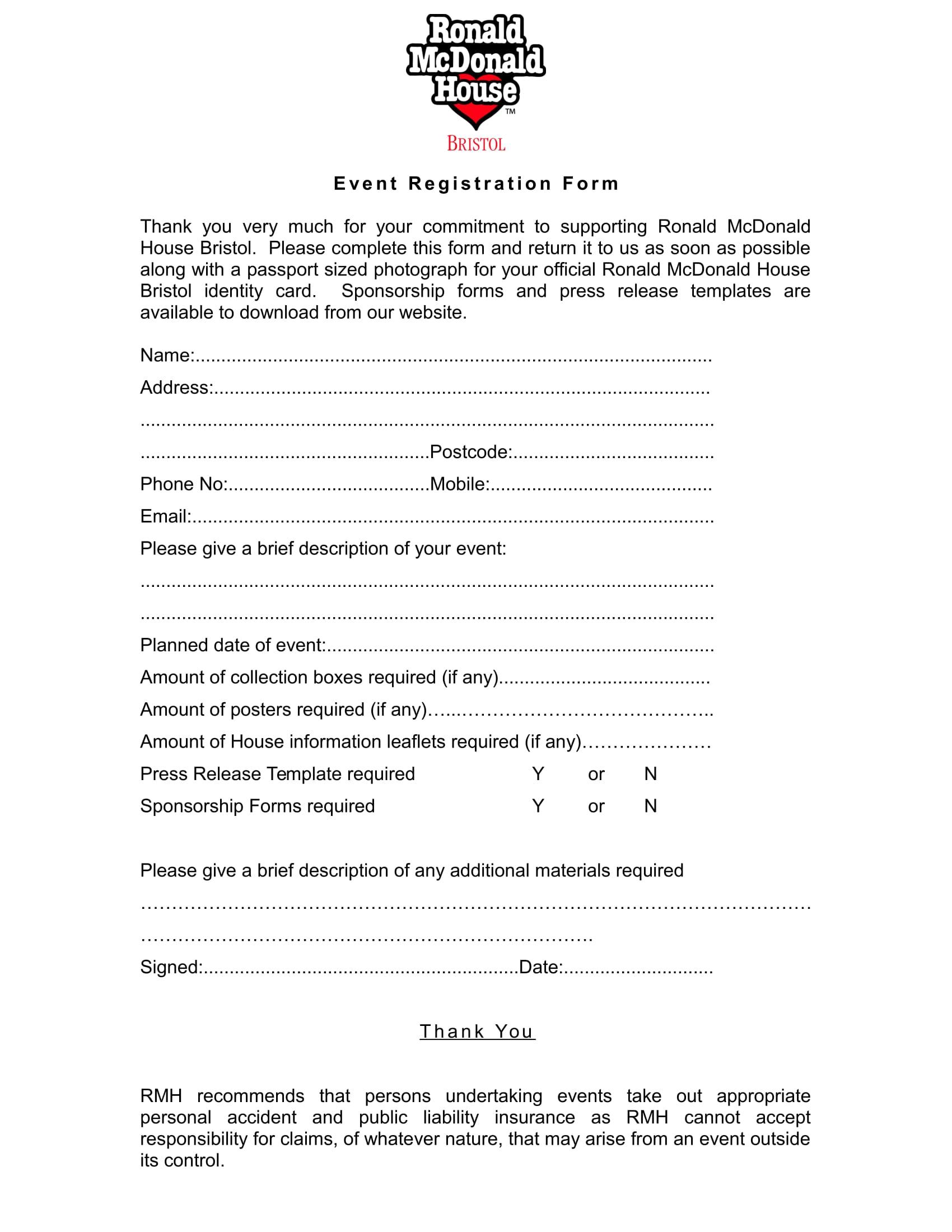 house event registration form 1