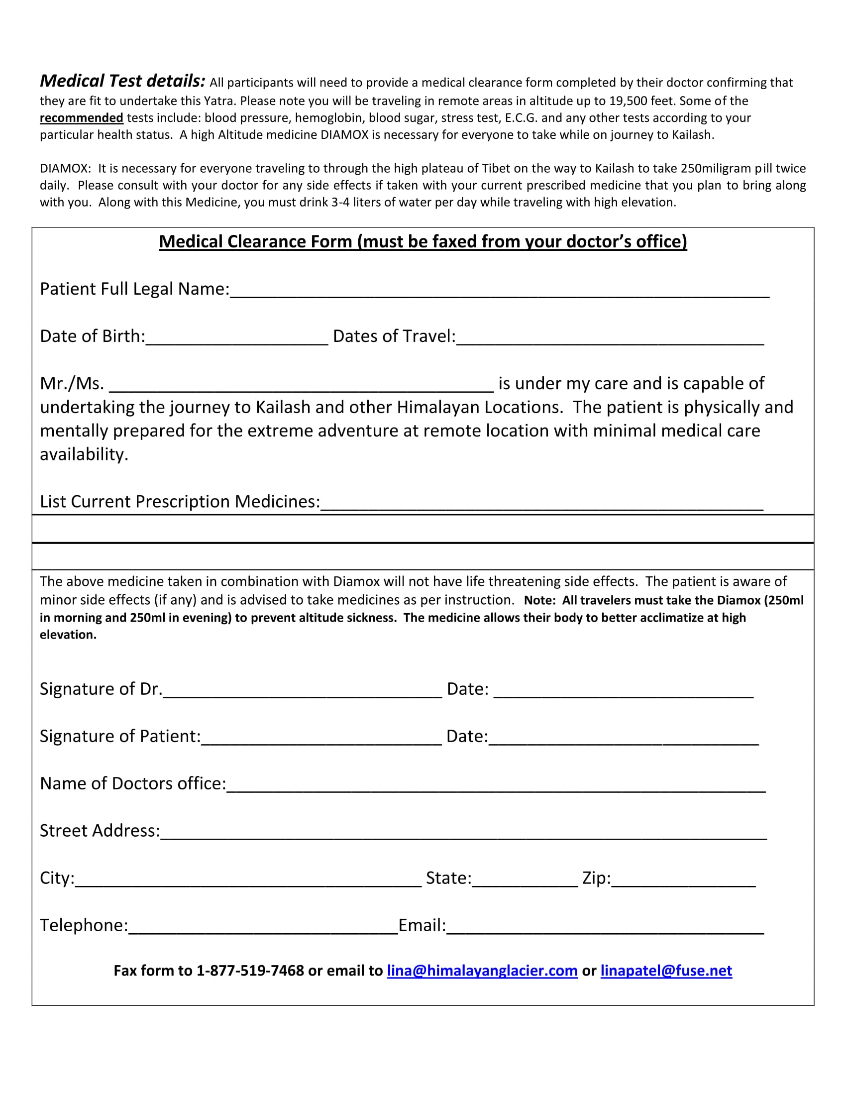 medical clearance form sample 11