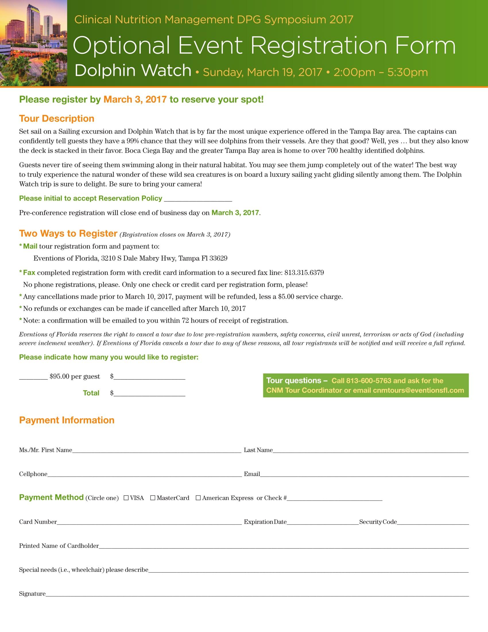 optional event registration form 1