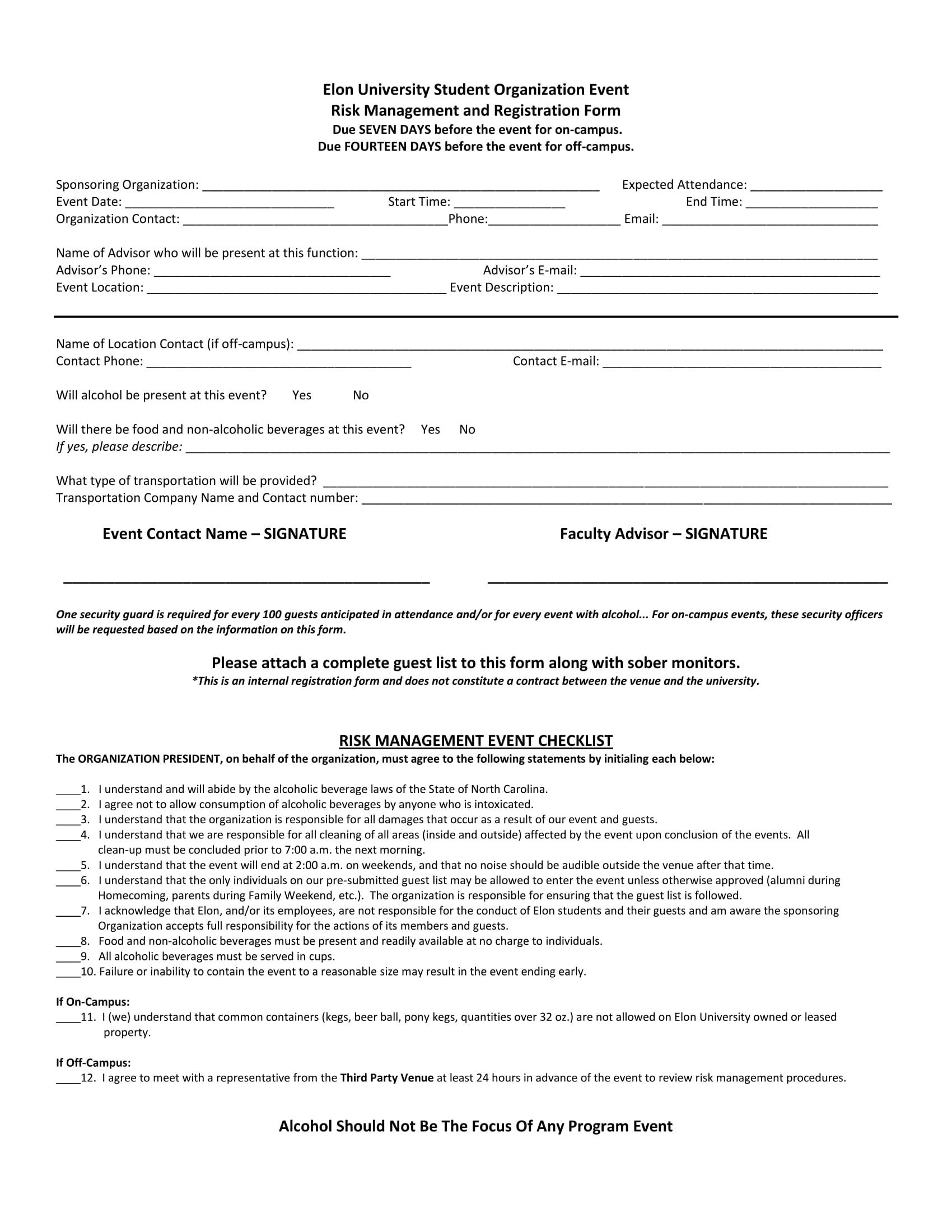 organization event registration form 1