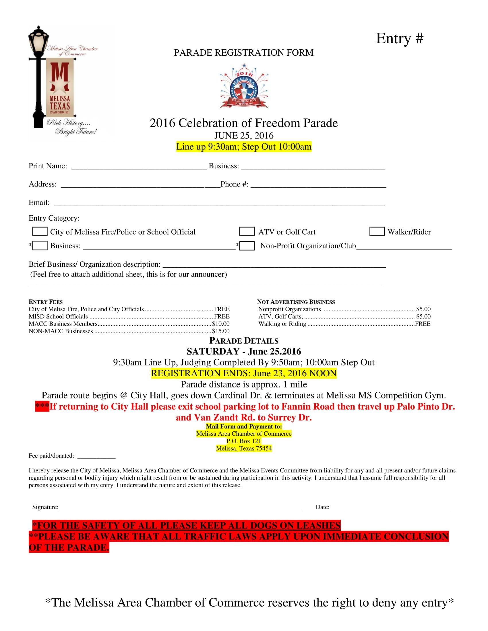 parade event registration form 1