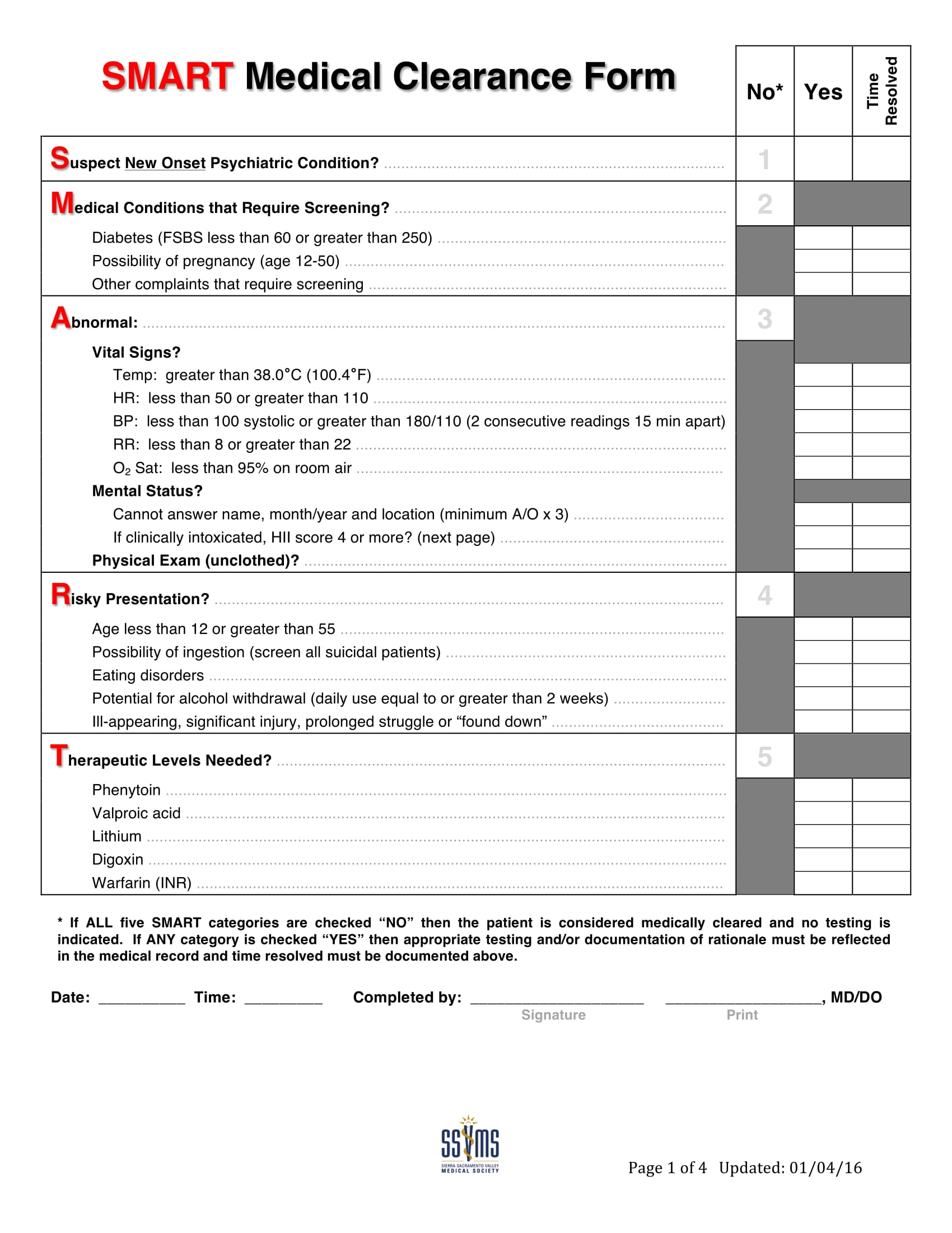 patient medical clearance form 1