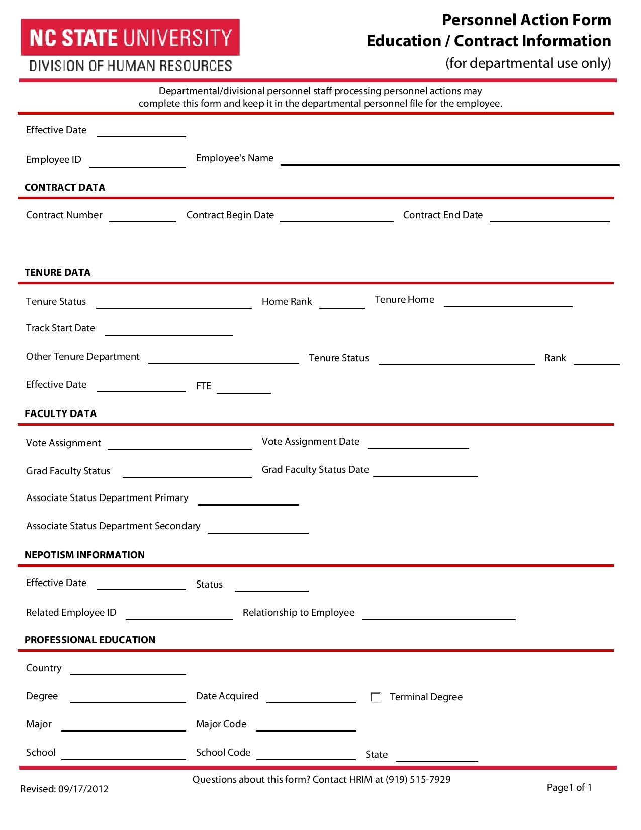 personnel action form education contract information page 001