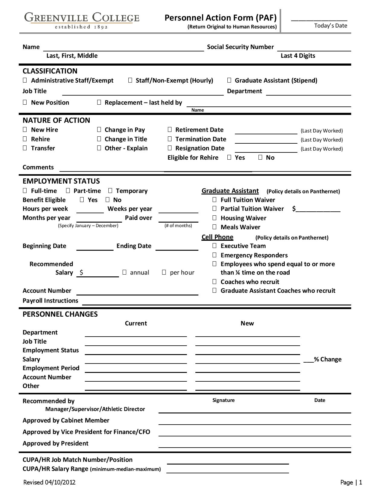personnel action form for employment page 0011