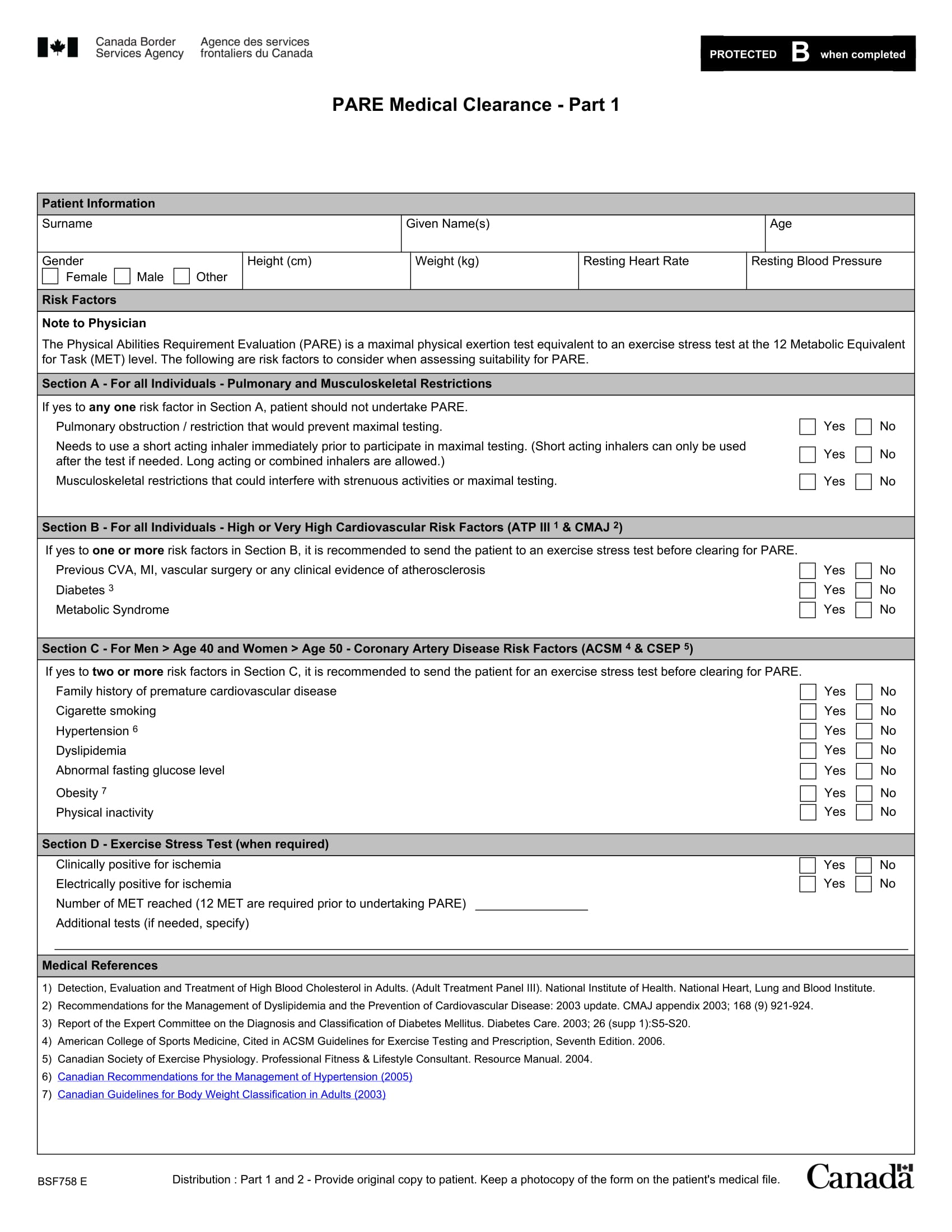 physical evaluation medical clearance form 2
