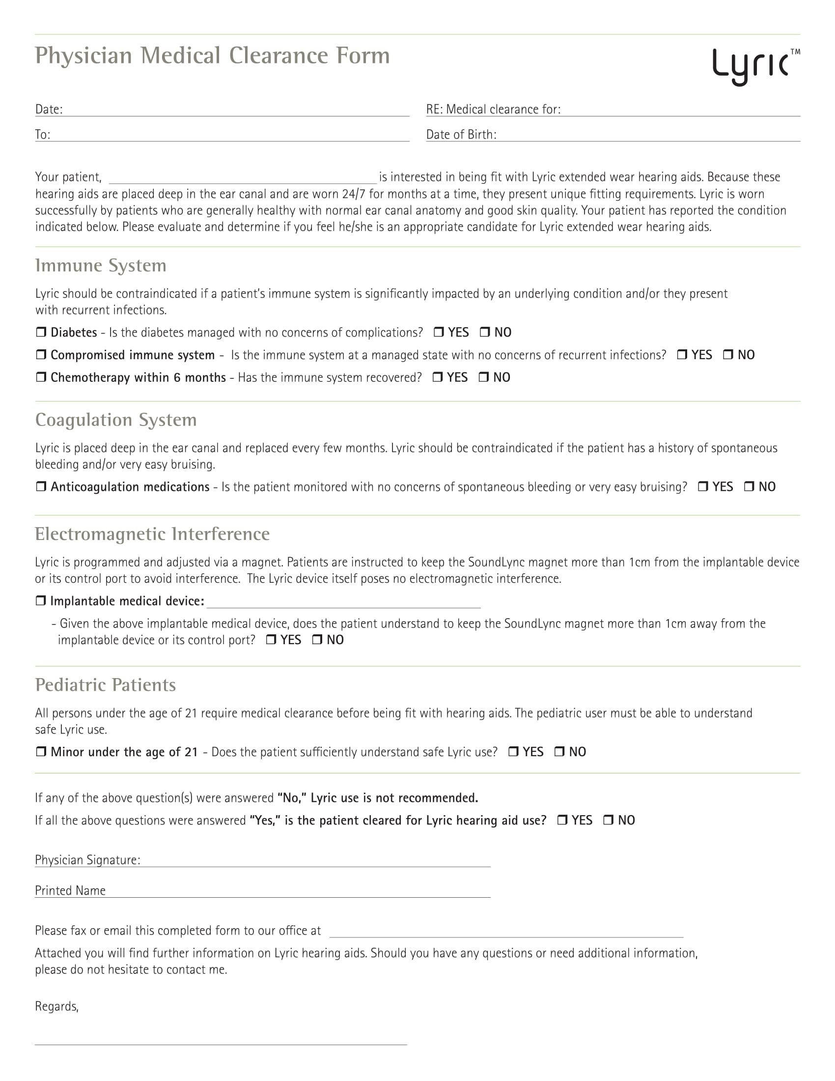 Physician Medical Clearance Form 11