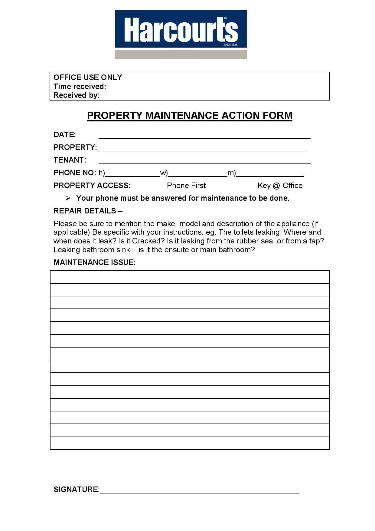 property maintenance action form page 001