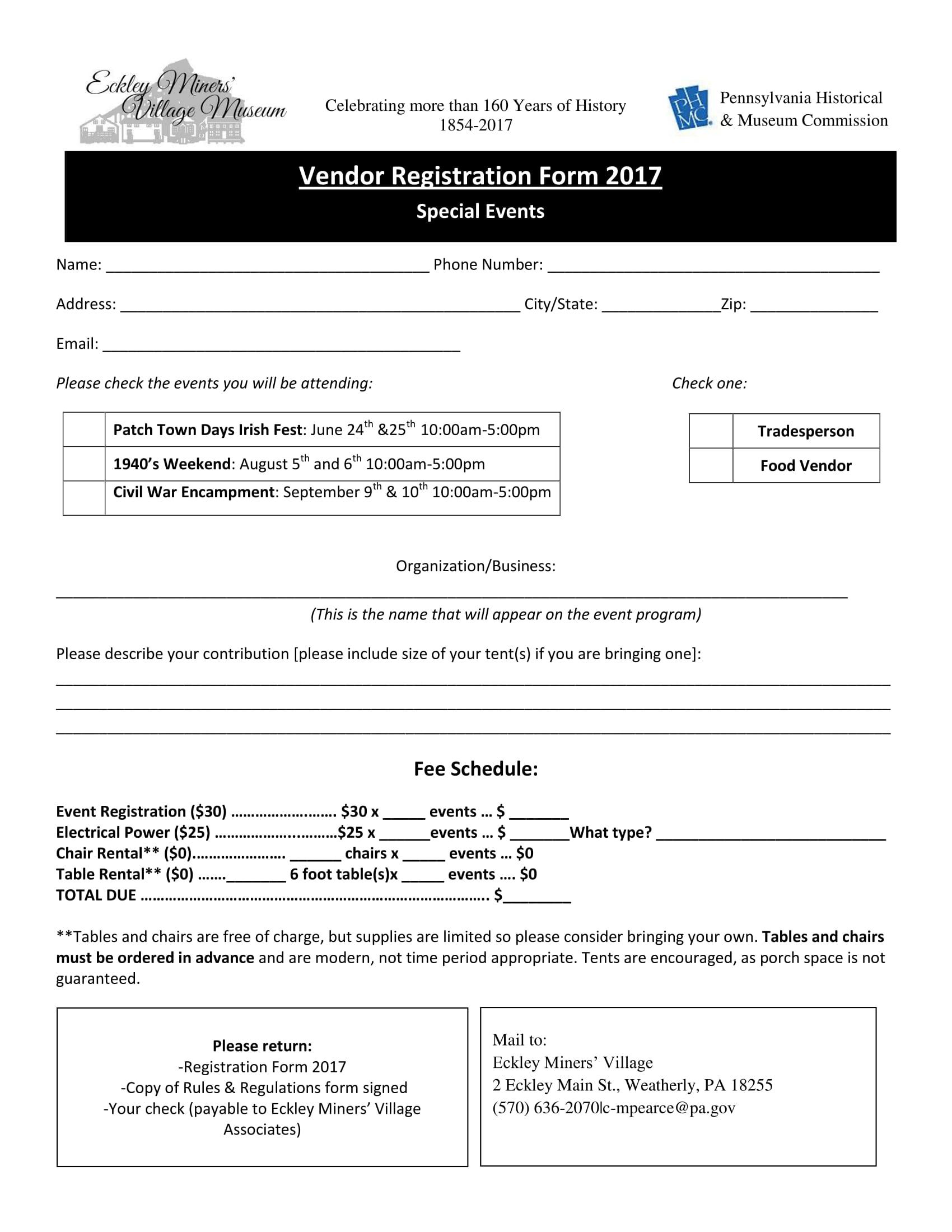 special event vendor registration form 1