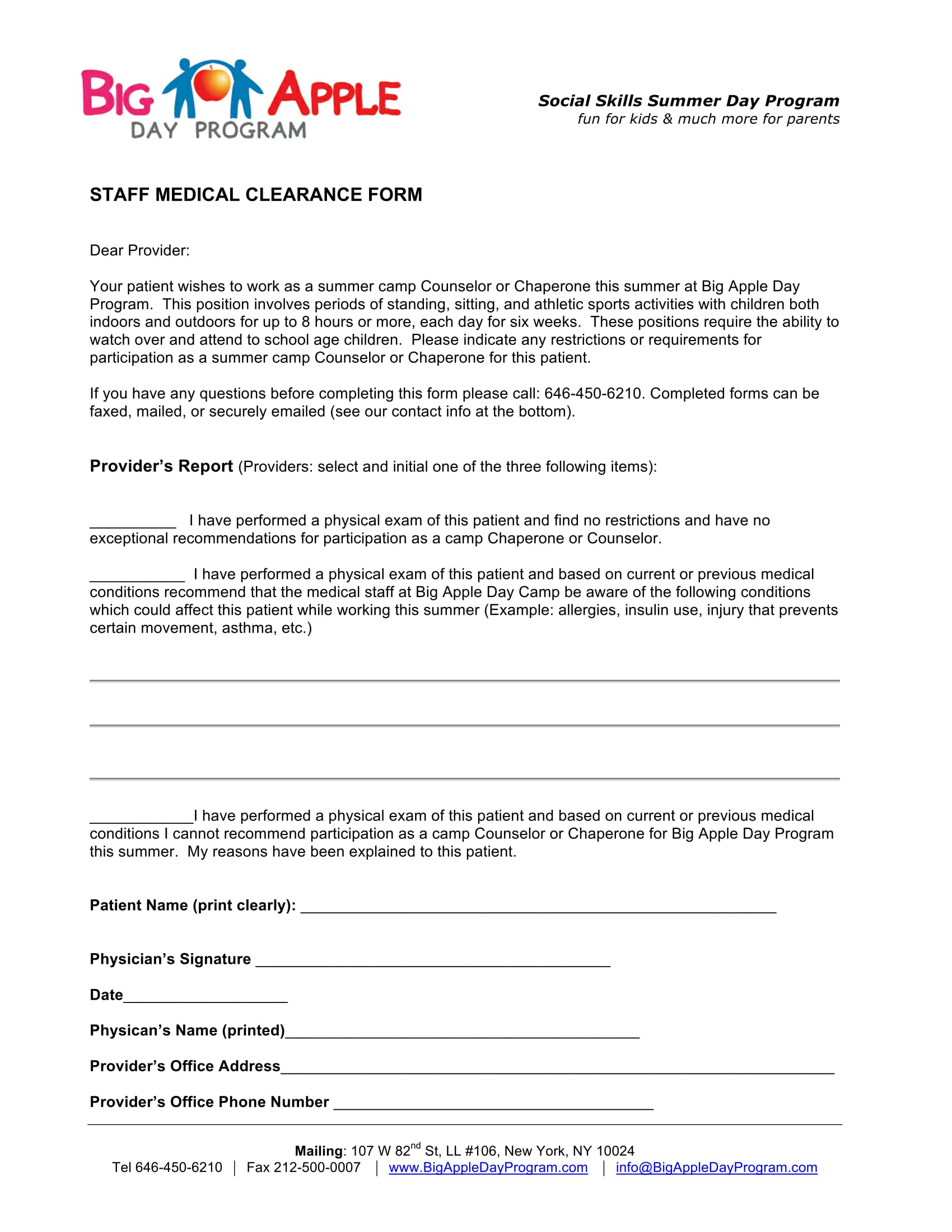 29+ Sample Medical Clearance Forms