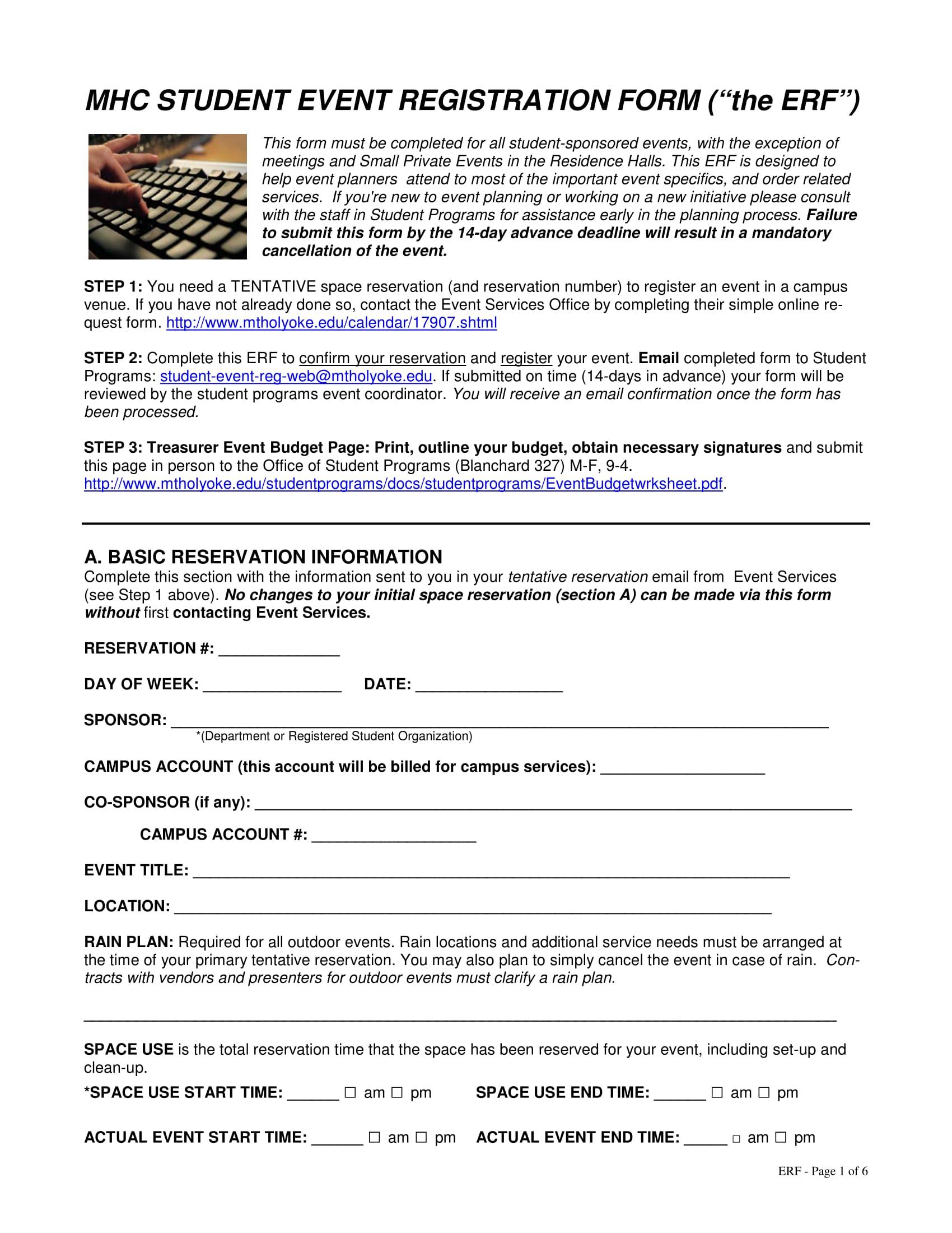 student event registration form 1