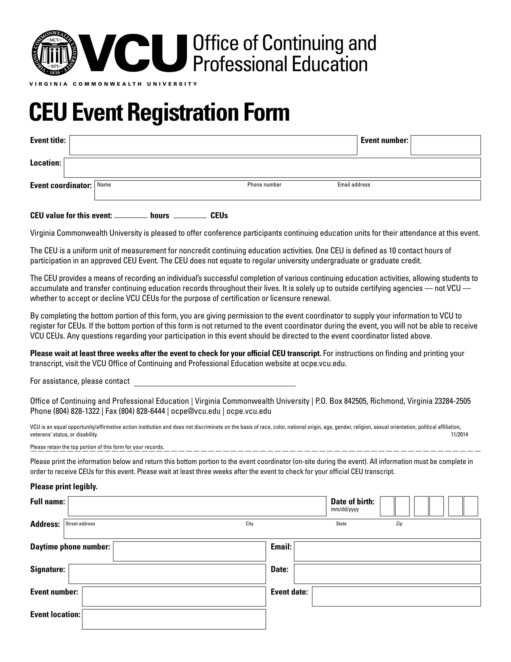 university event registration form 1