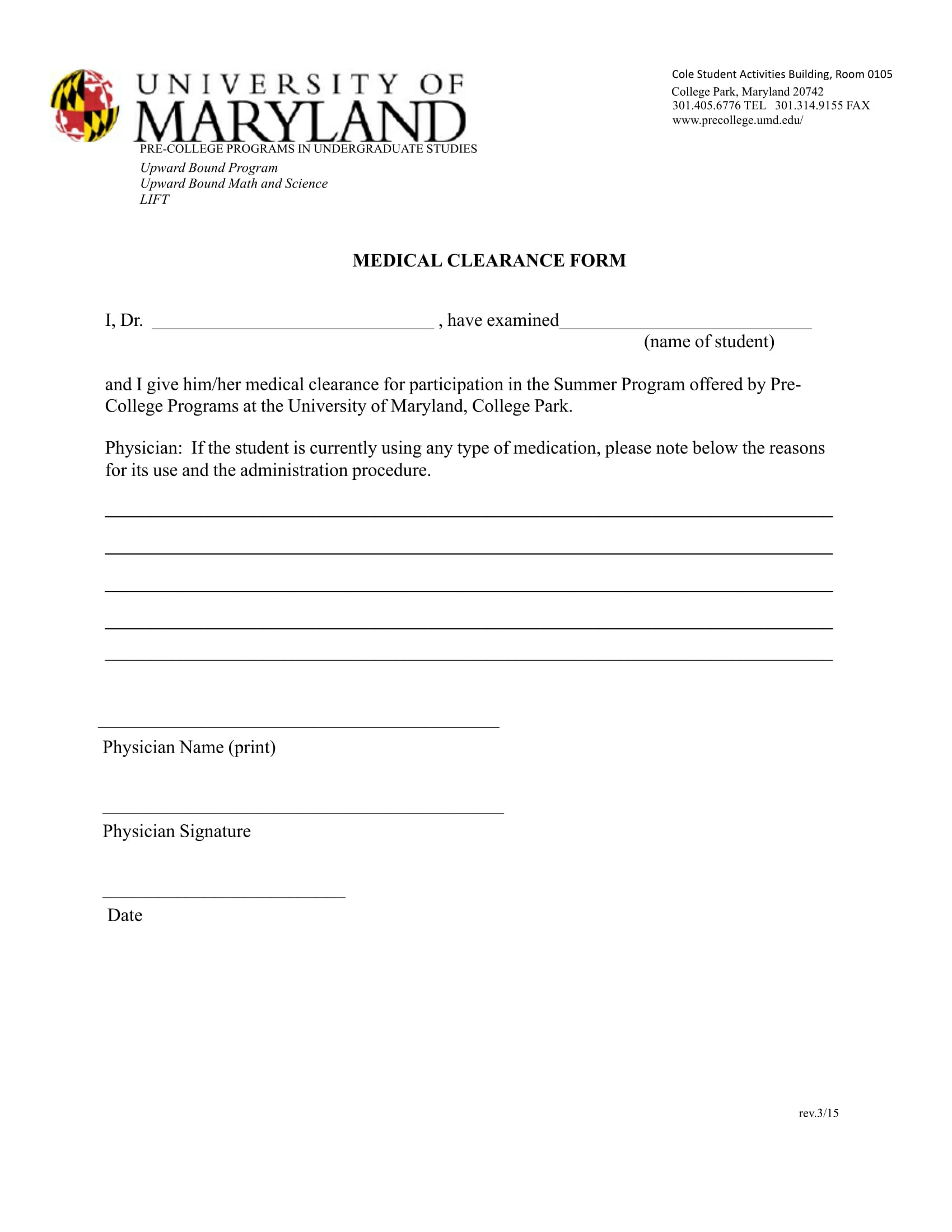 Beautiful Sample Medical Clearance Form Ideas - Resume Samples ...