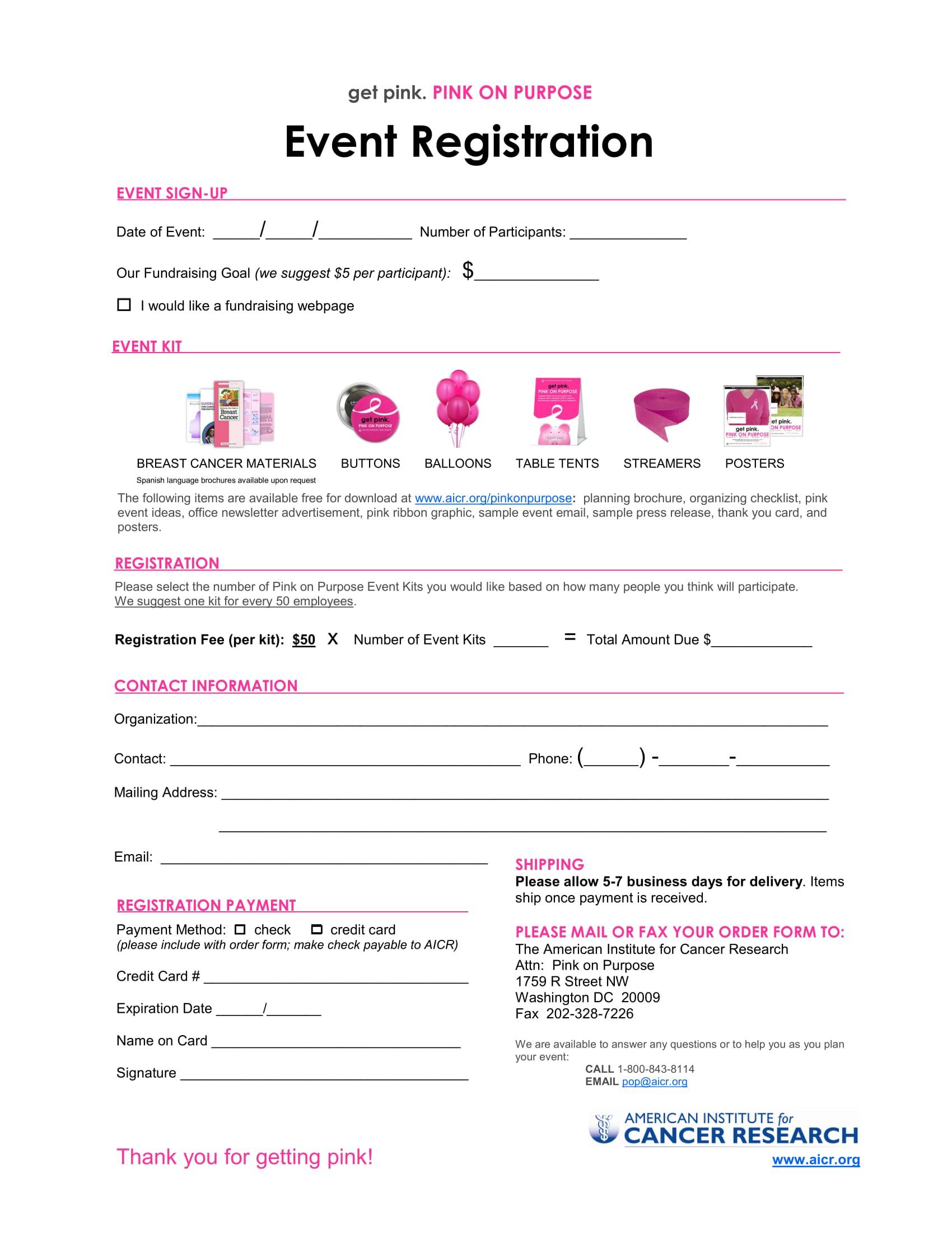 womens event registration form 1