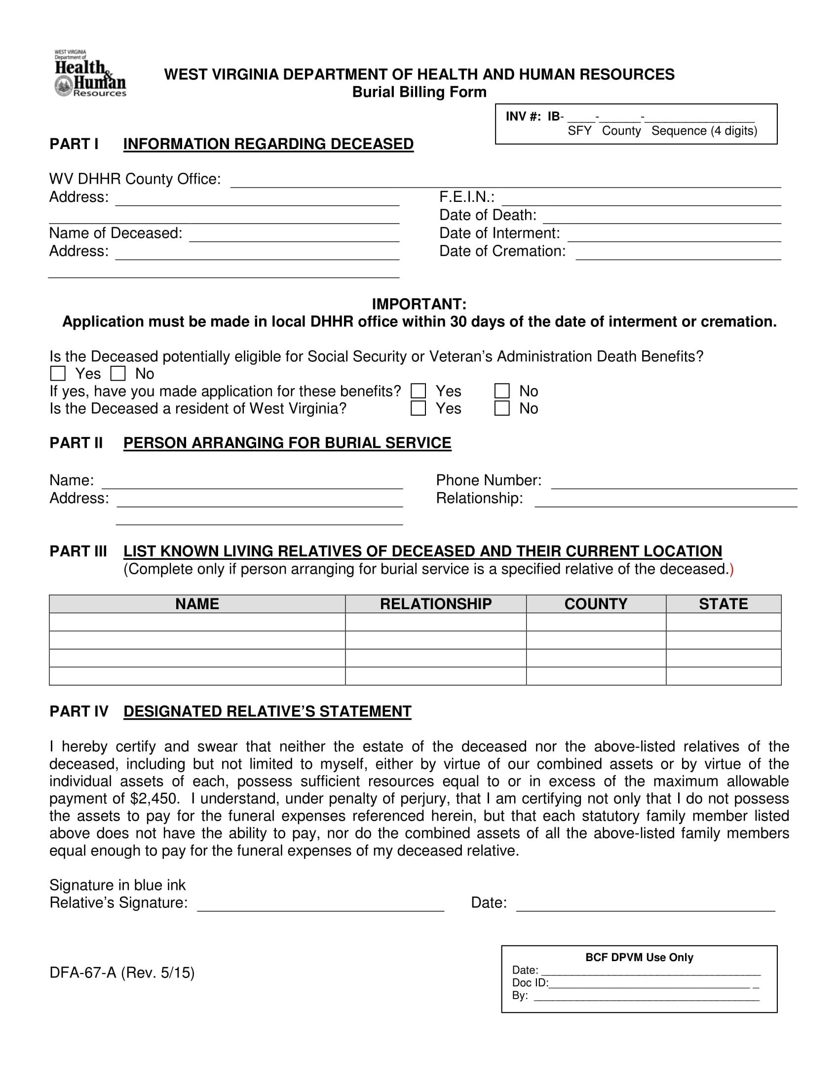 14 billing statement form samples free word pdf format download