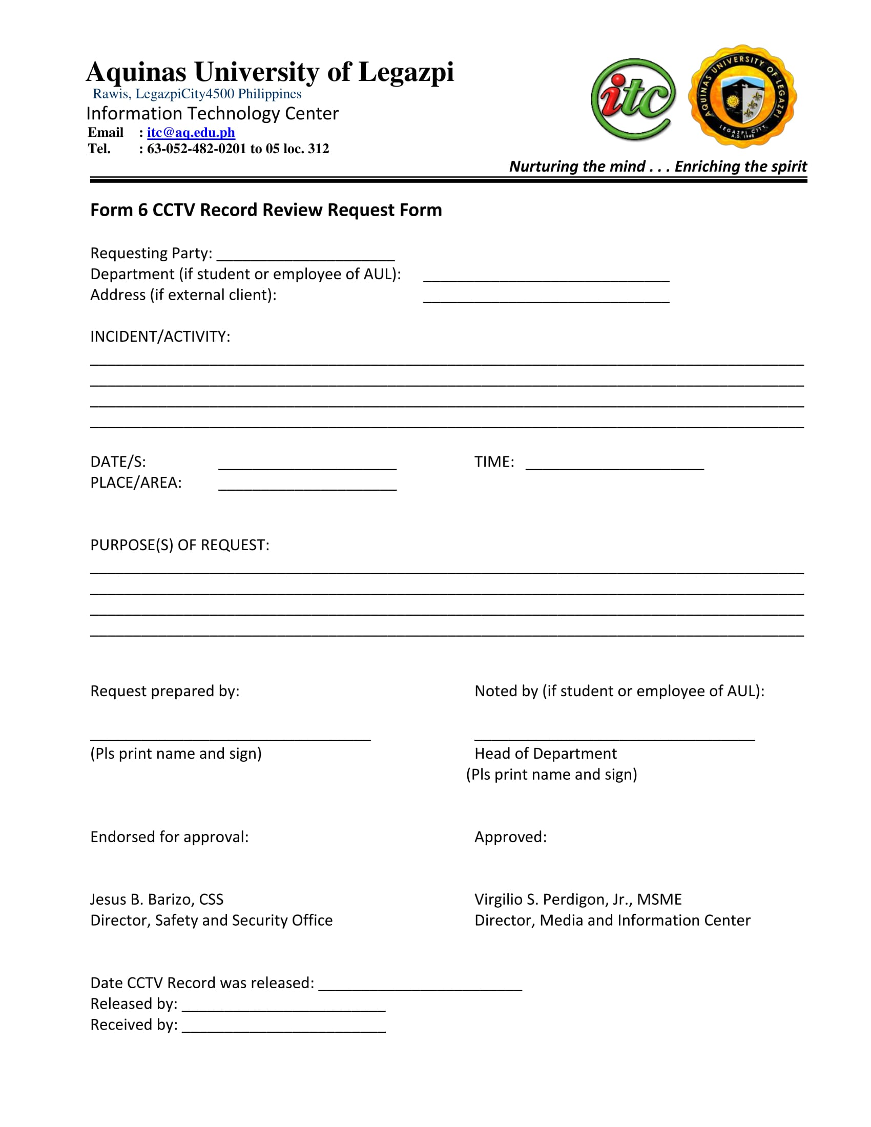 cctv record review request form 1
