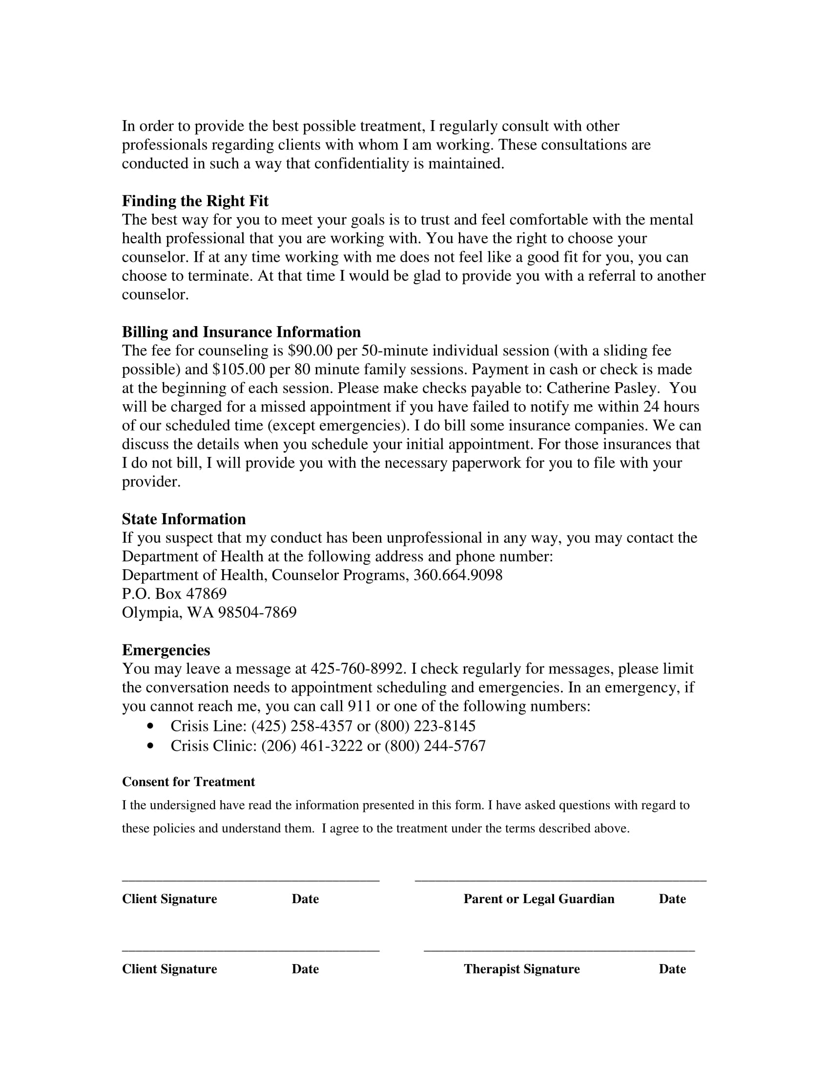FREE 14+ Counseling Statement Form Samples | PDF