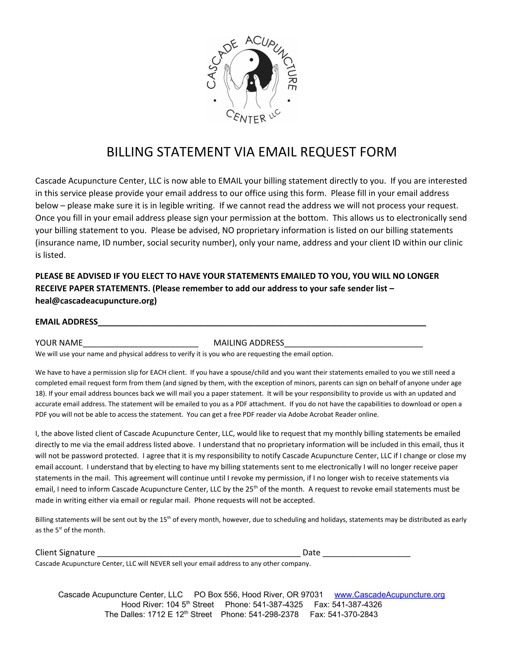 email billing statement request form 1