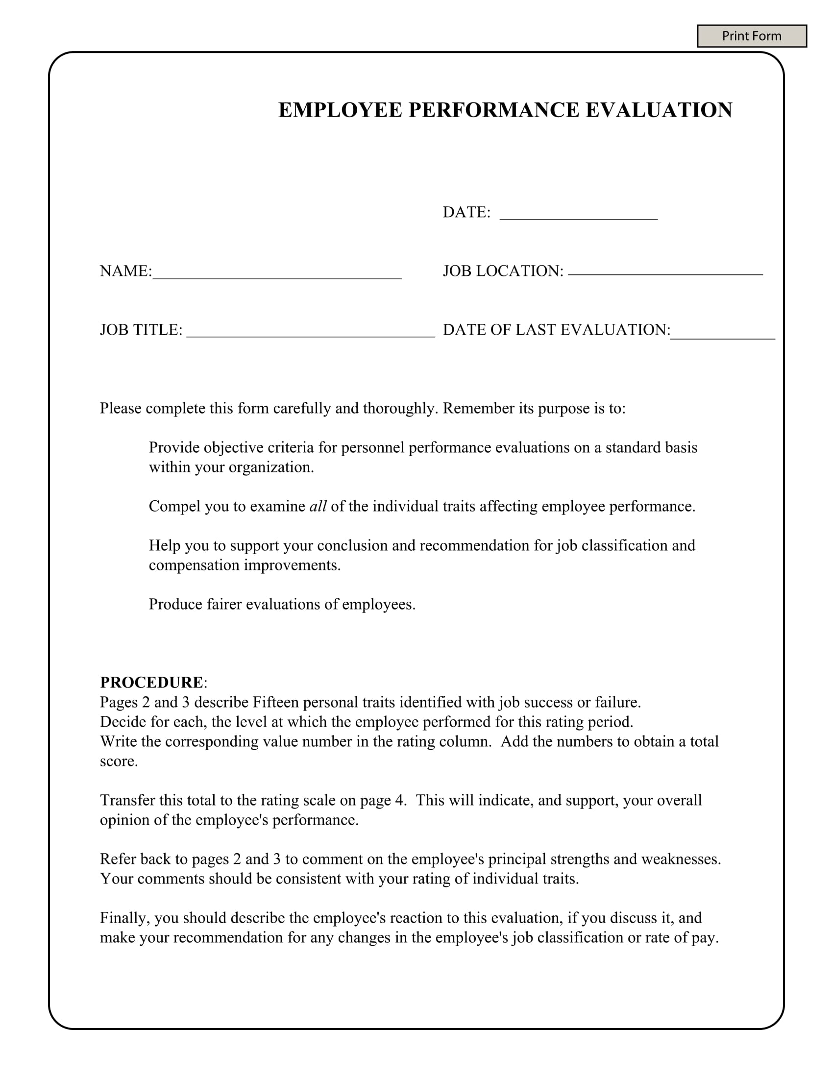 employee summary review form 1