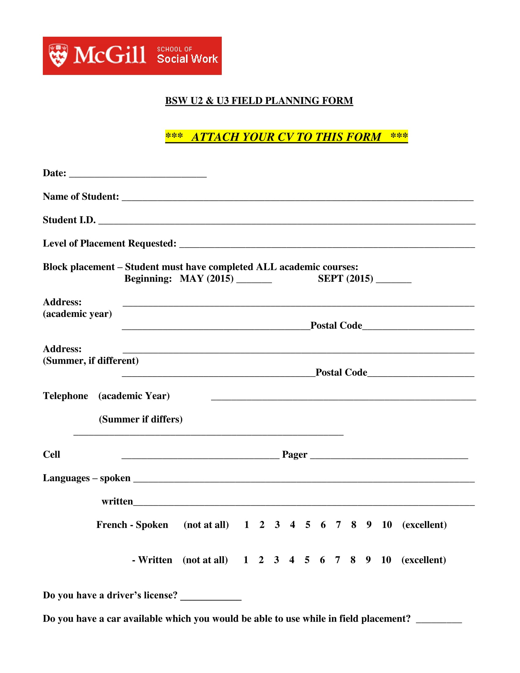 field planning review form 1