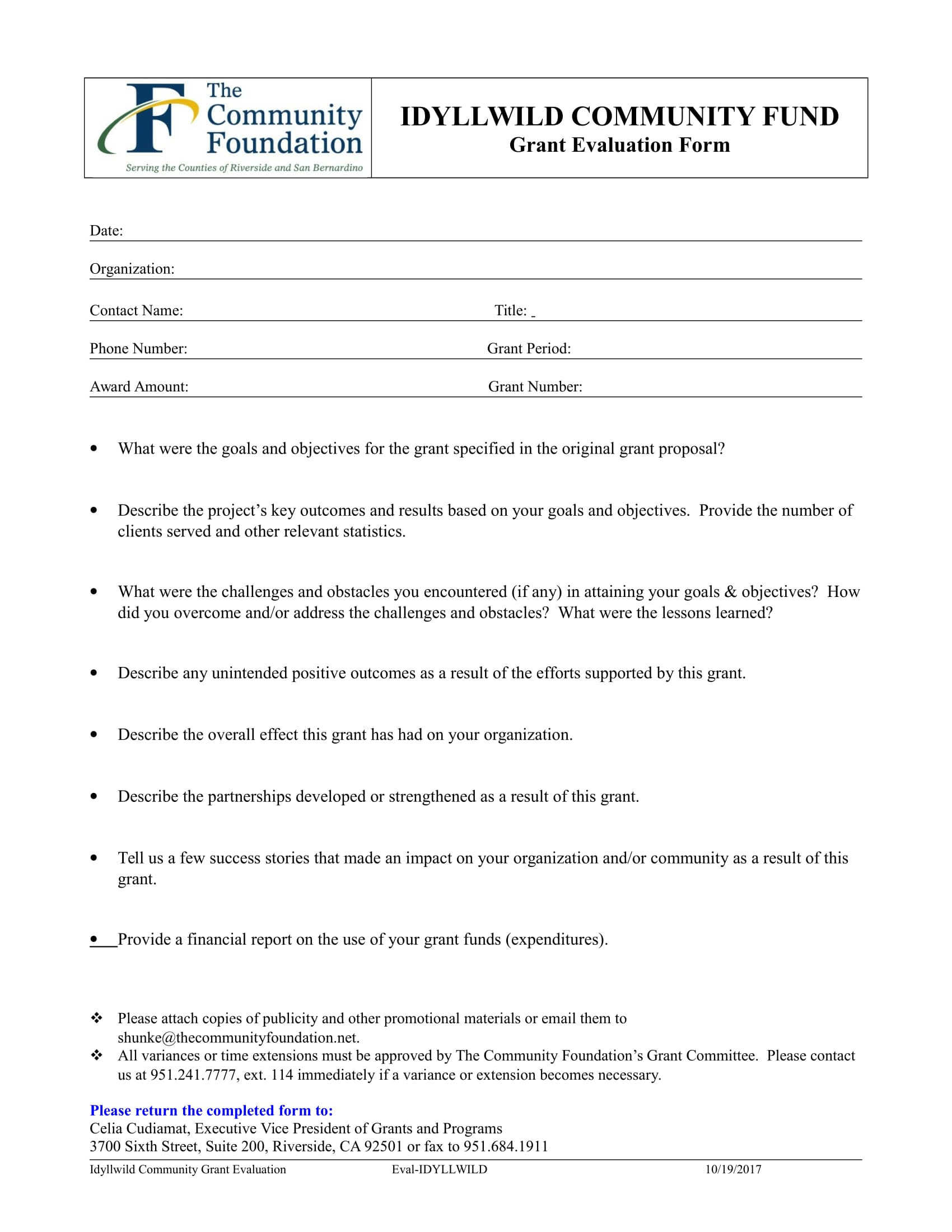 fund grant evaluation form 1