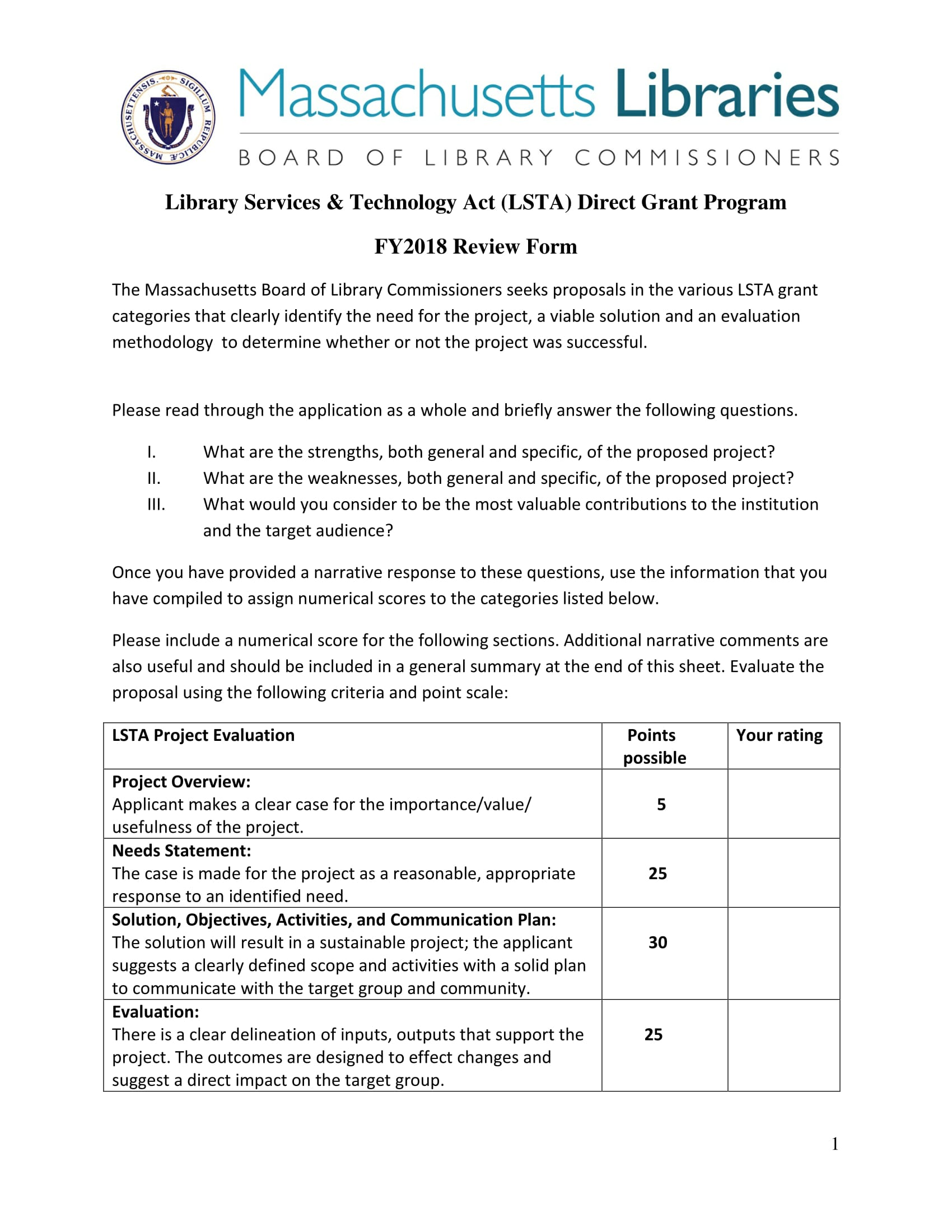 grant application review form 1
