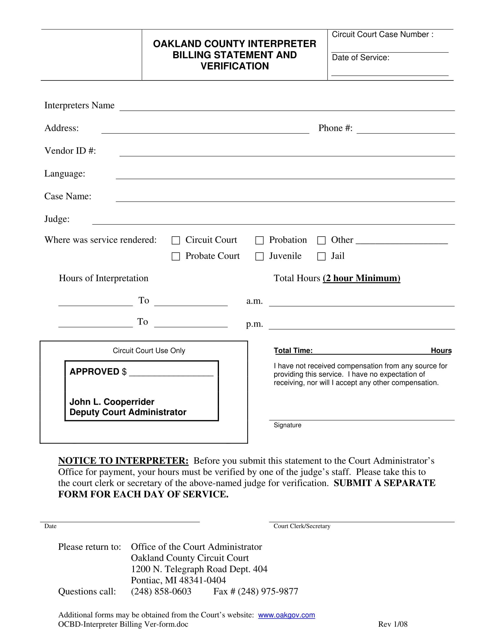 interpreter billing statement form 1