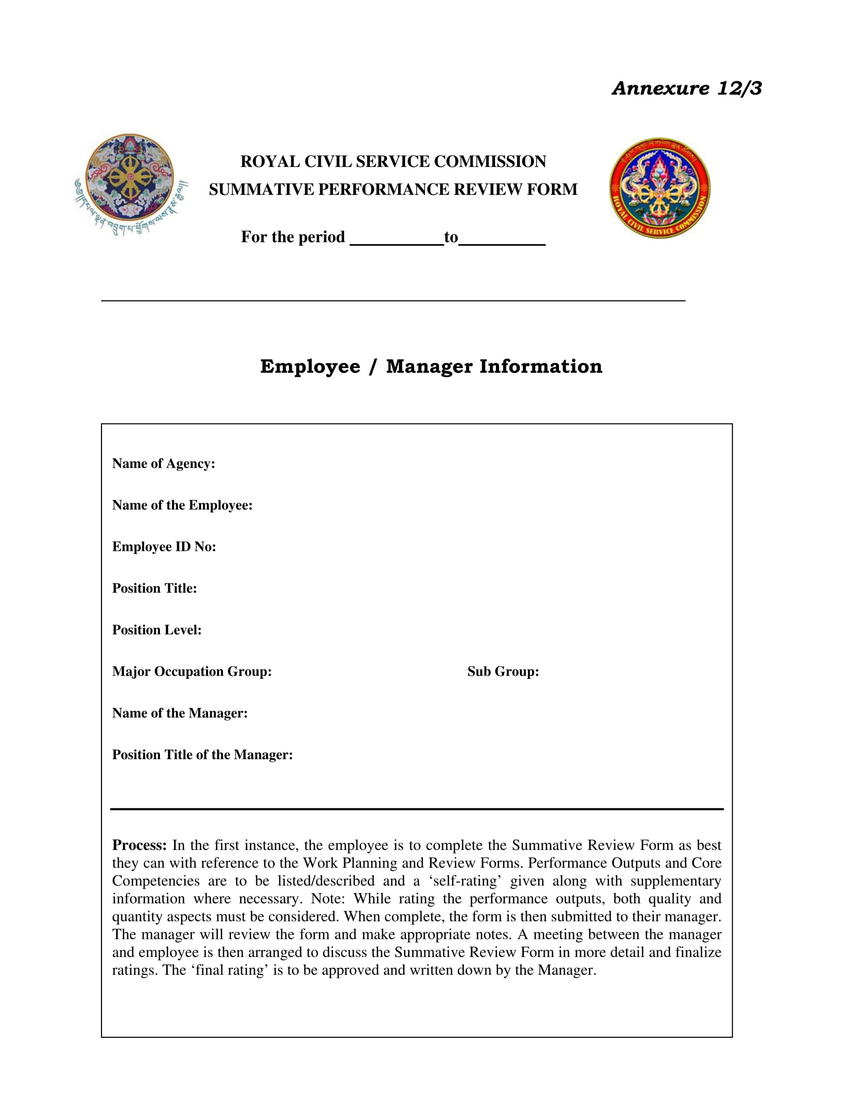 manager summative performance review form 1
