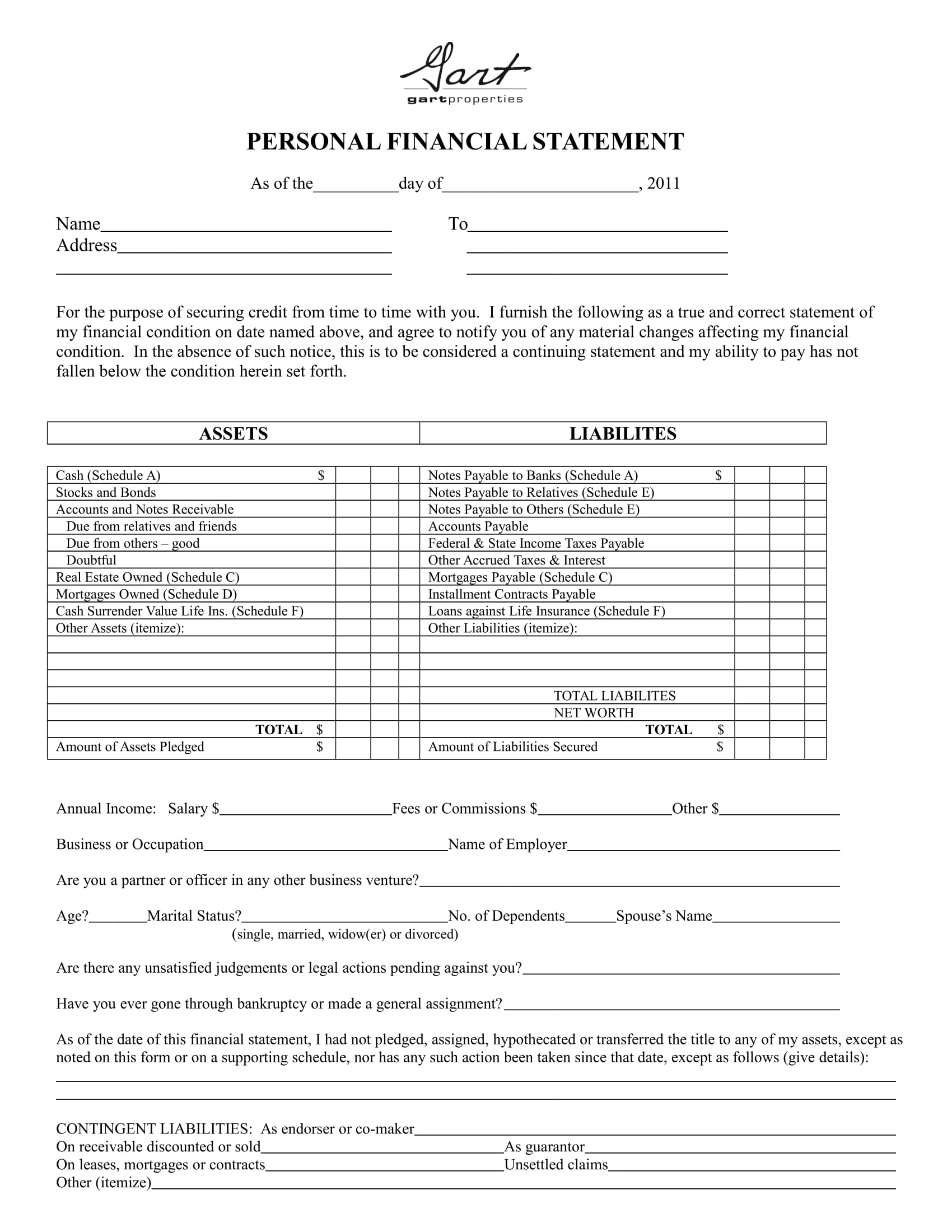 29 statement forms in word