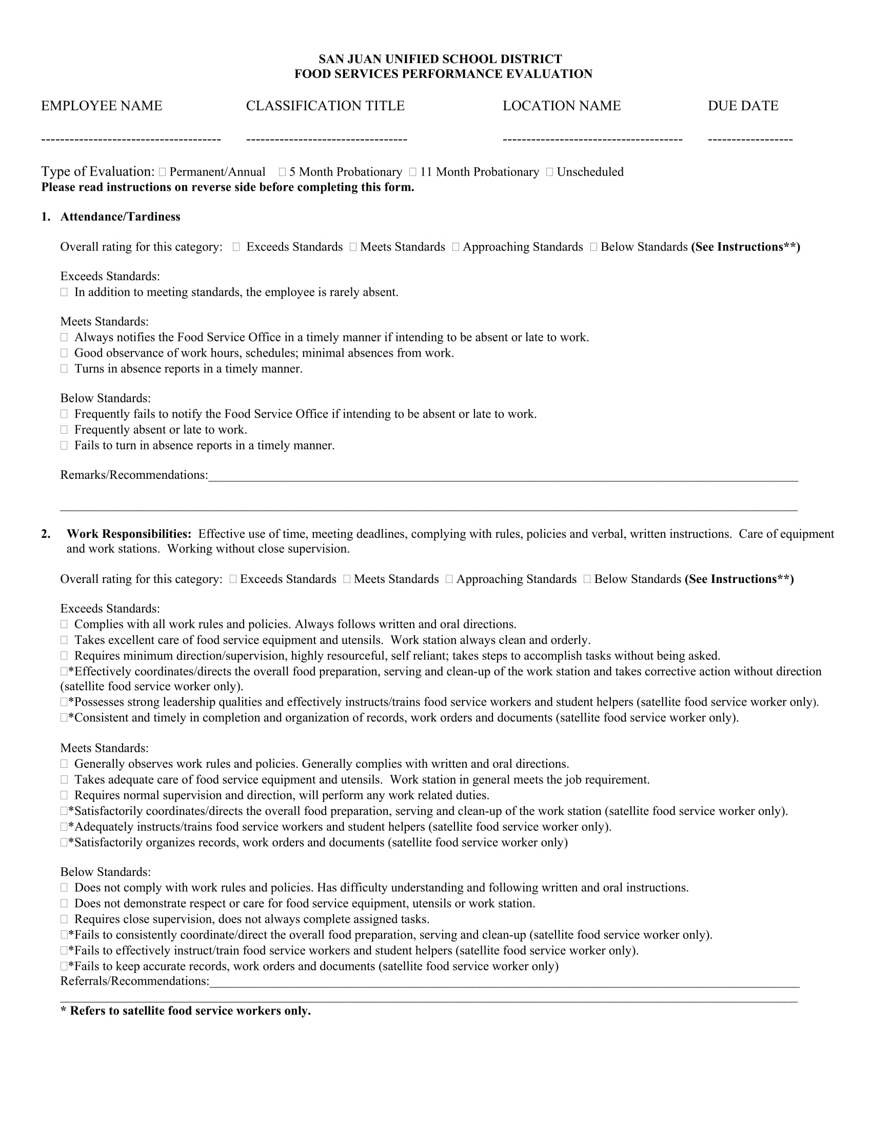 Employee Evaluation Form Sample Employee Tenant Eviction Notice