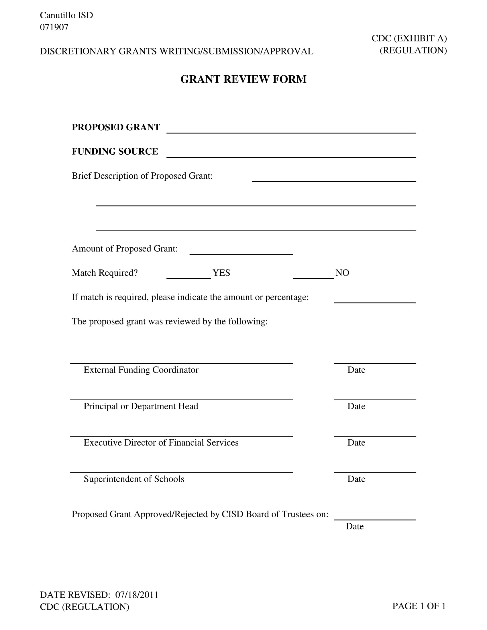 standard grant review form 1