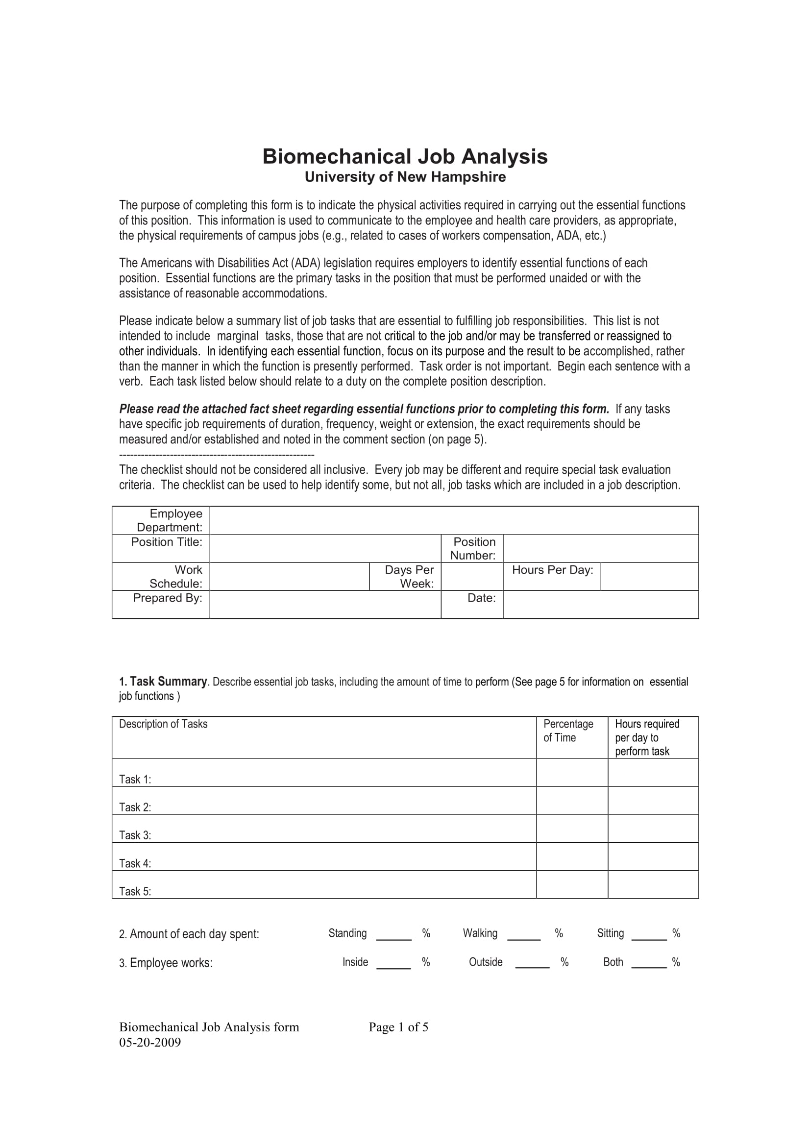 biomechanical job analysis form 1