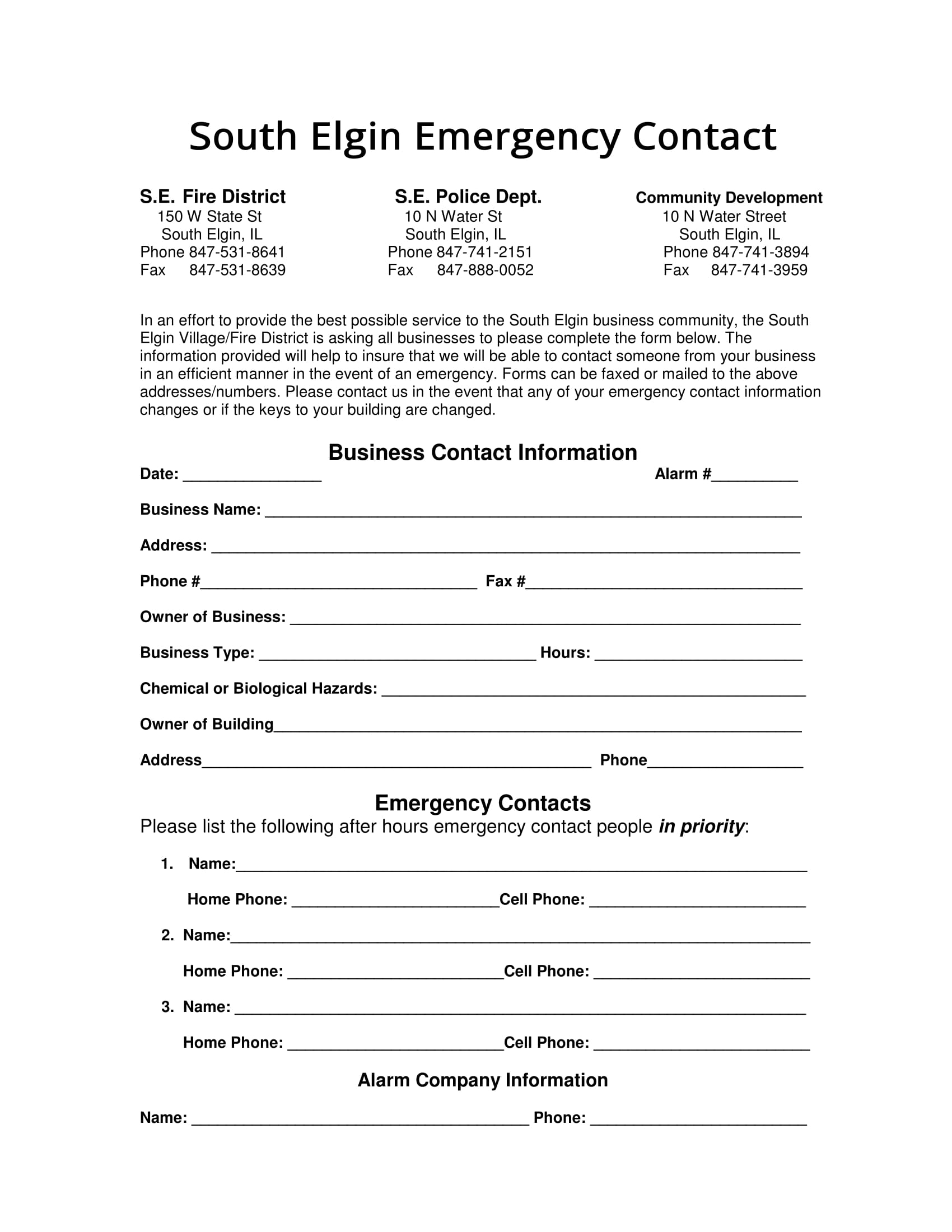 business contact information form 1