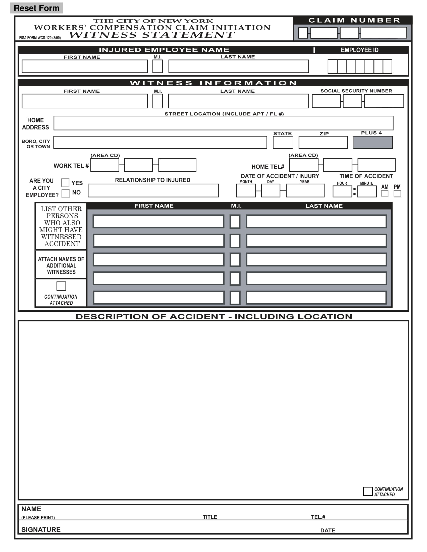 14+ Employee Witness Statement Forms - Free Word, PDF Format