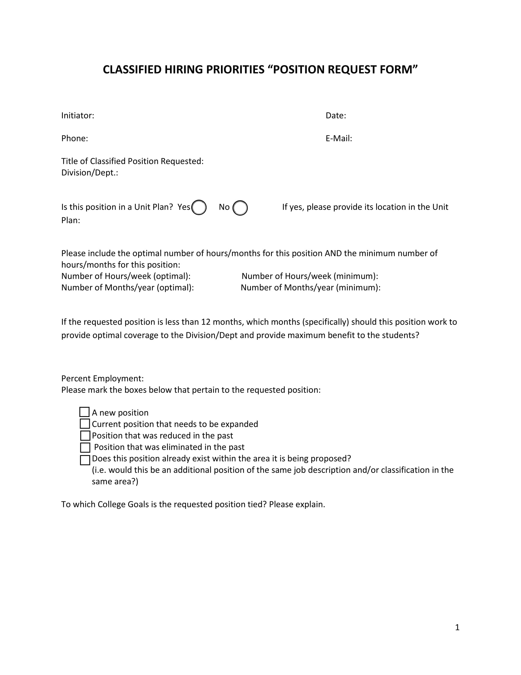 classified position request form 1