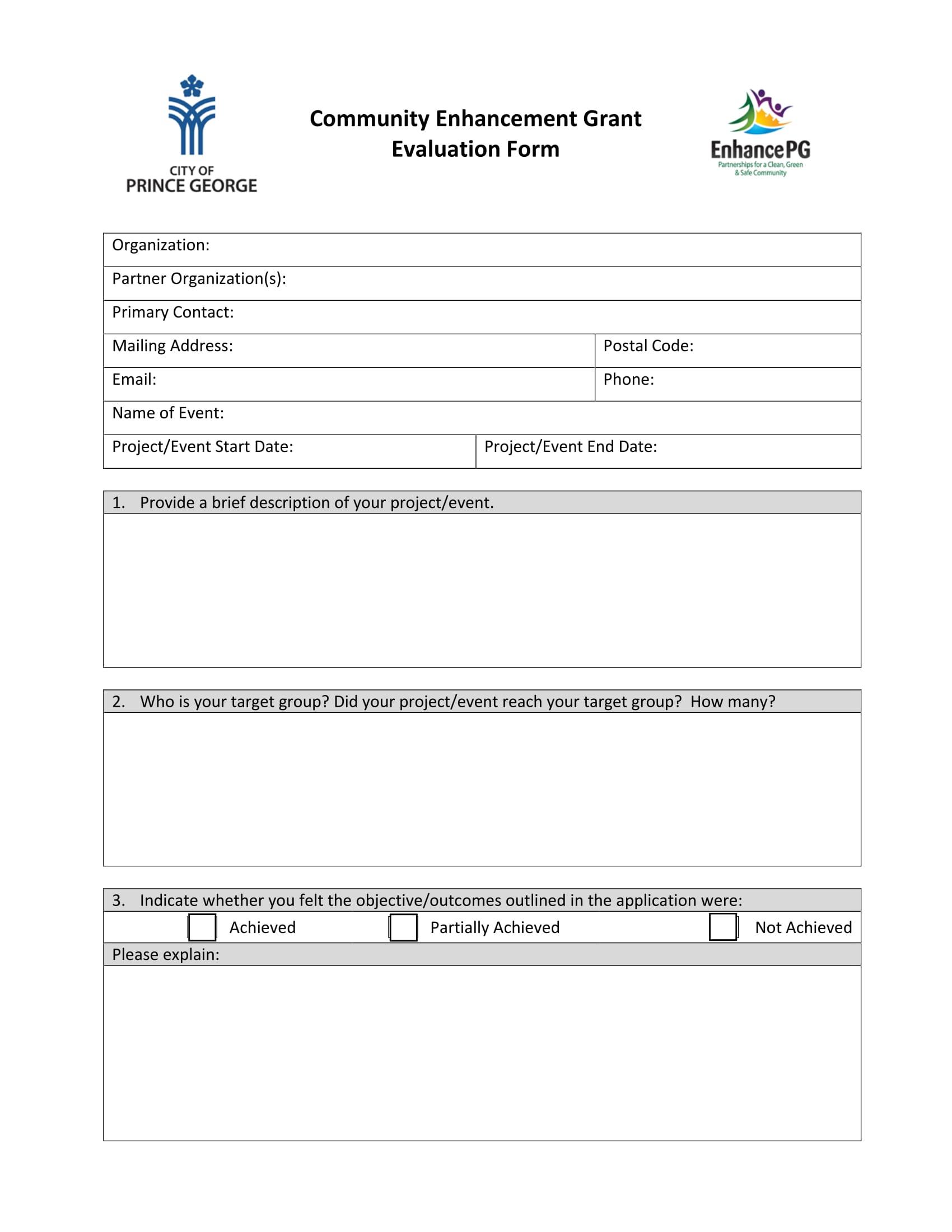 community enhancement grant evaluation form 1