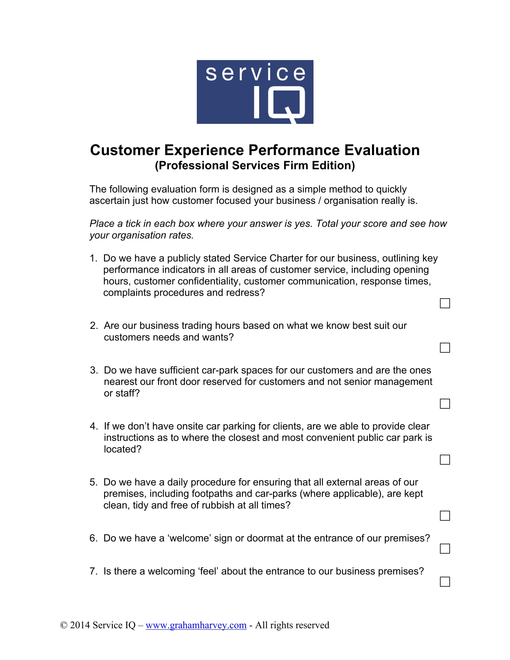 customer experience performance evaluation form 01