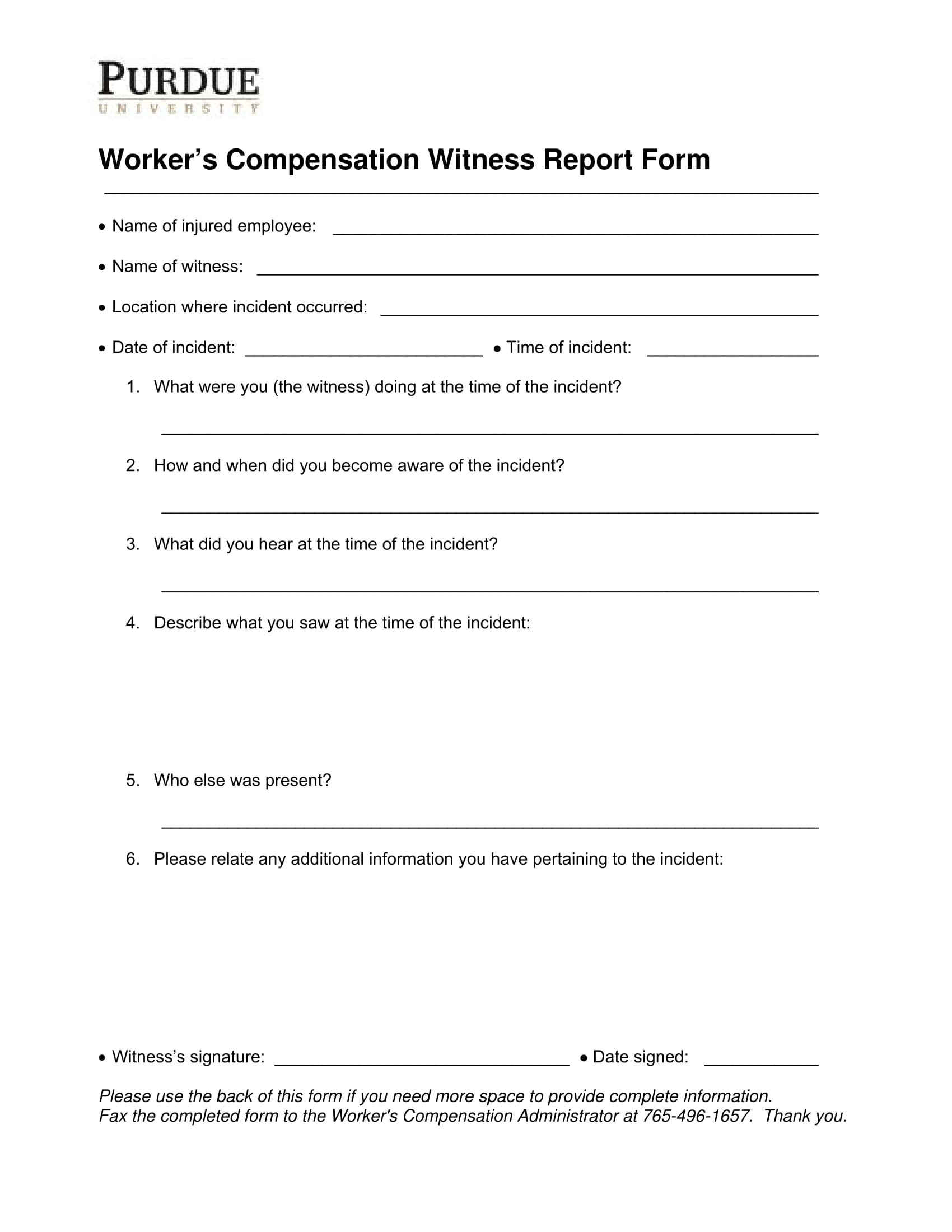 witness report
