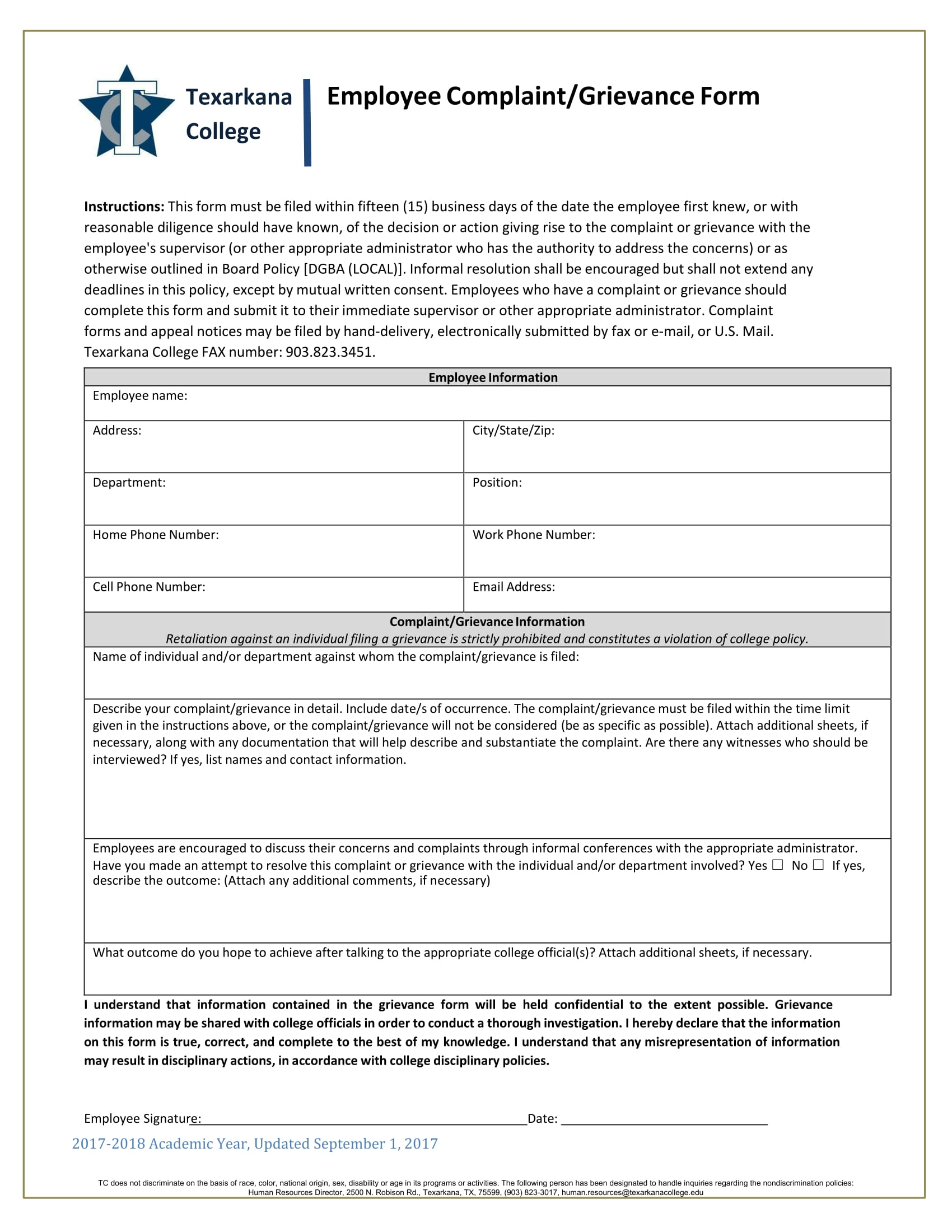 14 Employee Complaint Forms Free Psd Word Pdf Format Download