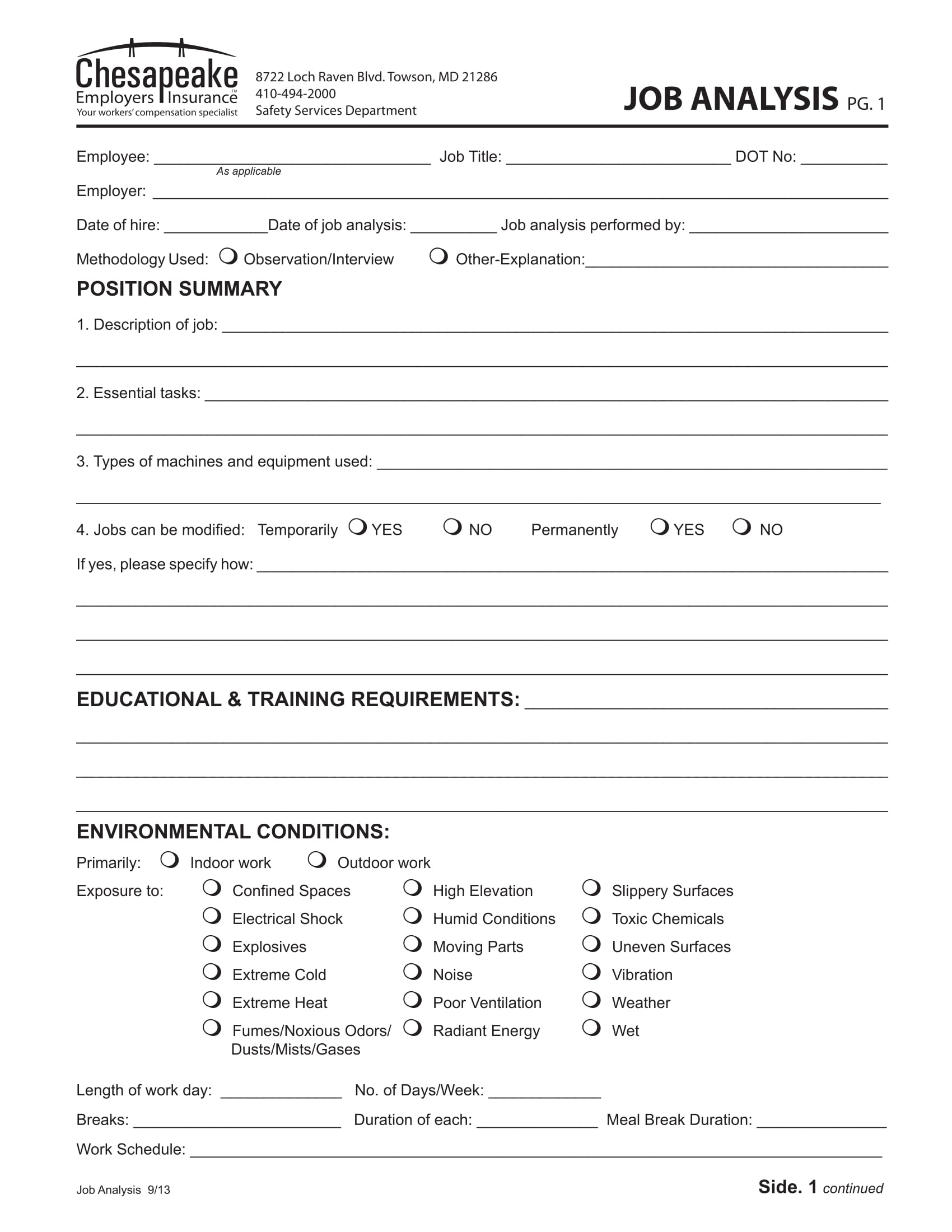 employee job analysis form 1