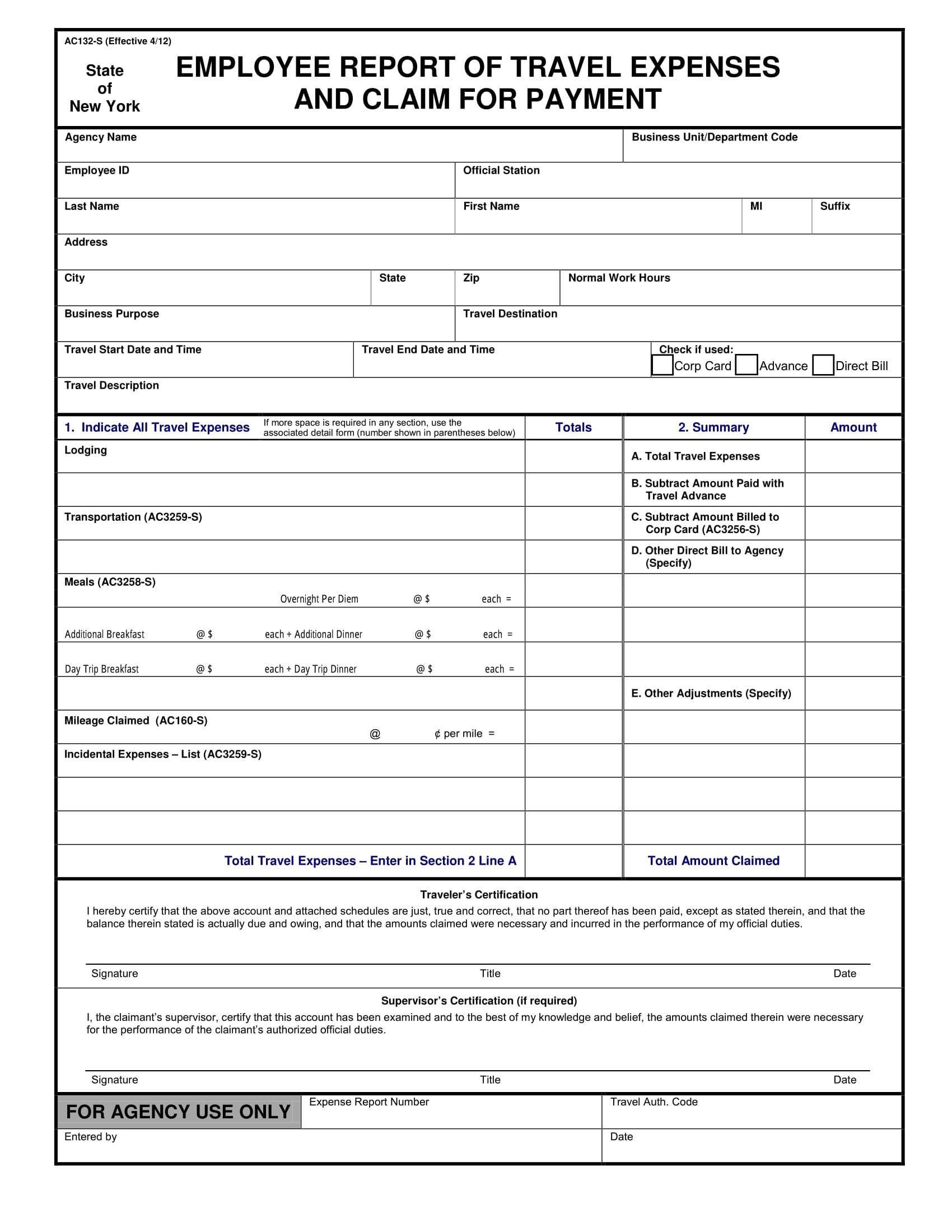 employee report of travel expenses 1