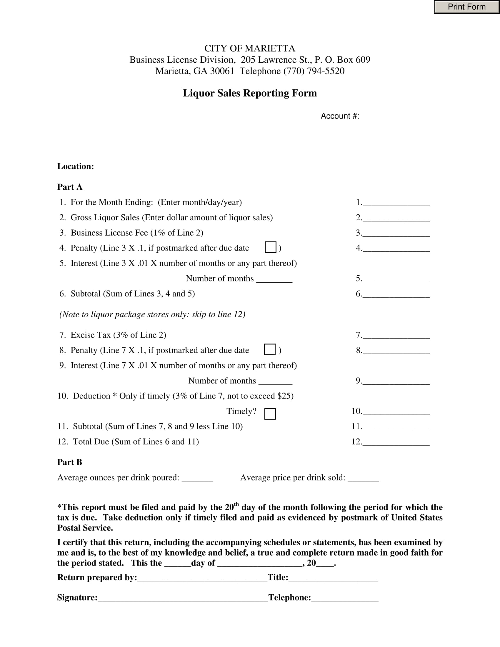 fillable liquor sales reporting form 1