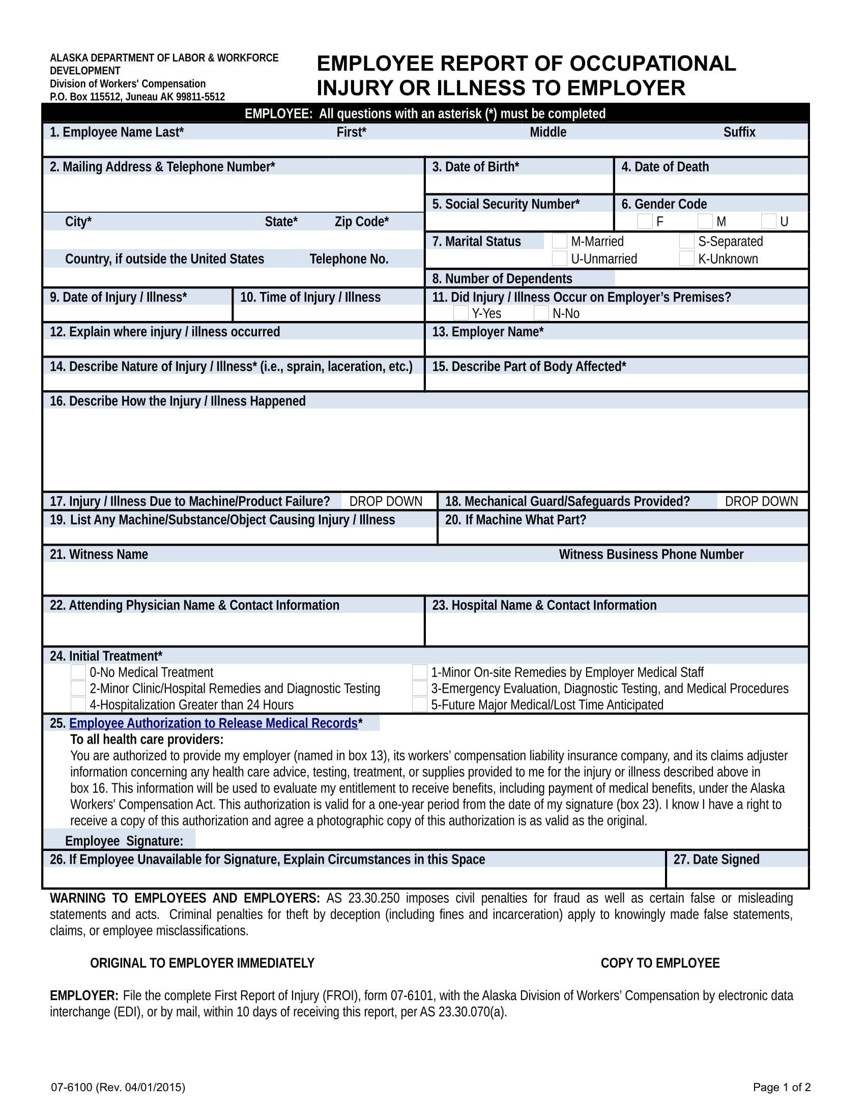 14+ Employee Report Forms