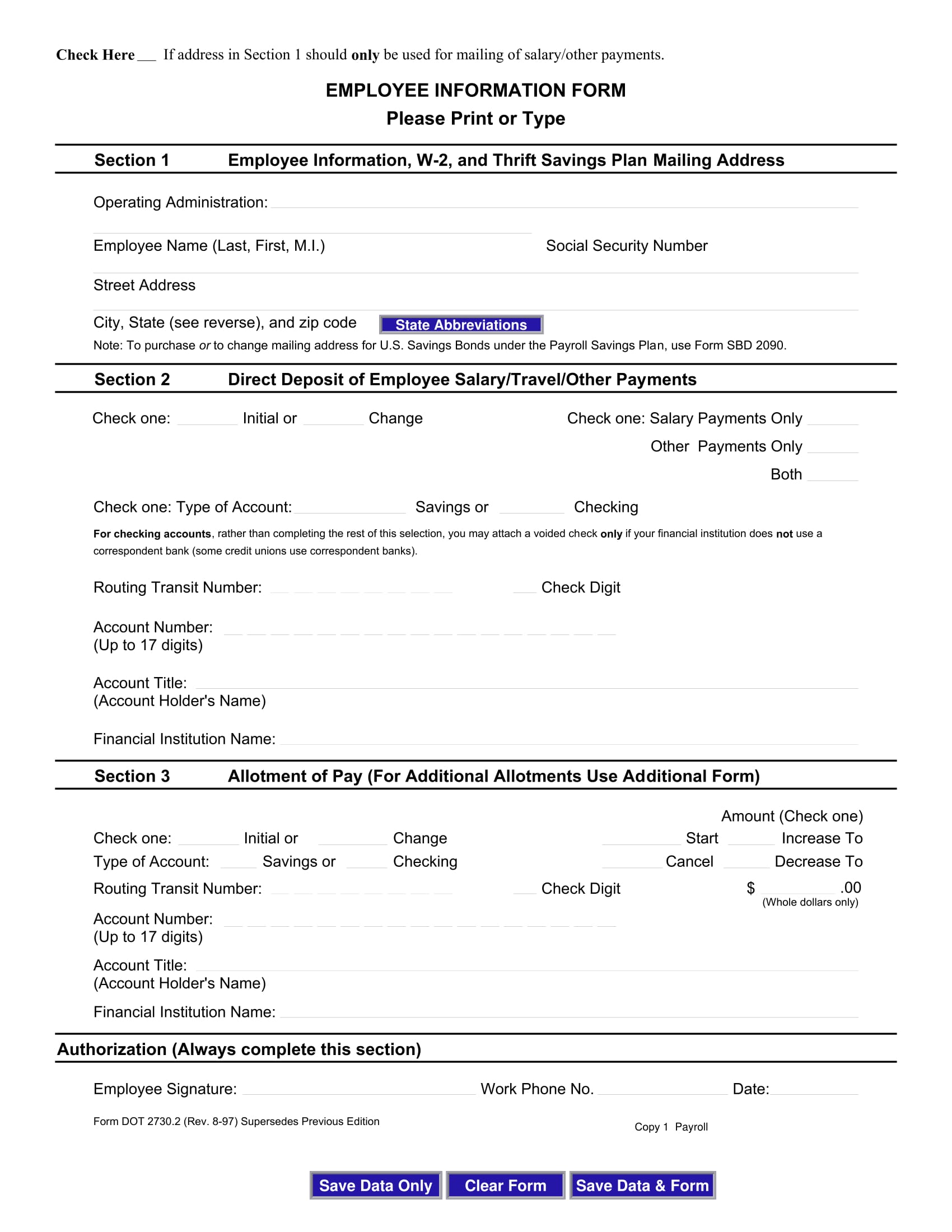 interactive employee information form 1