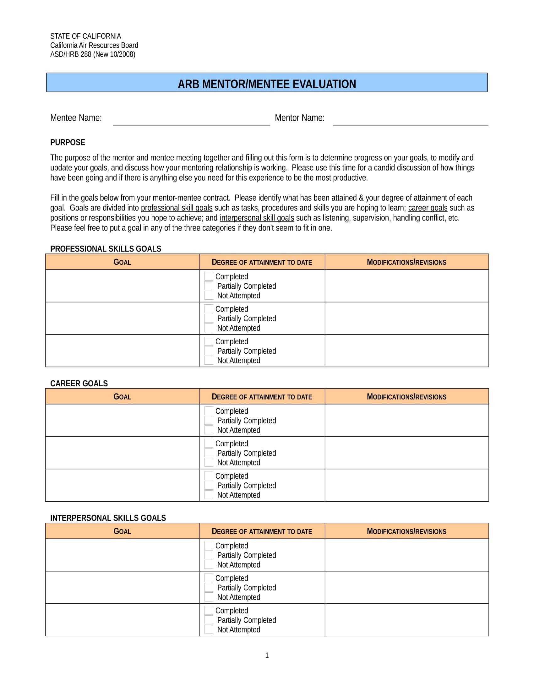 mentor mentee evaluation form 1