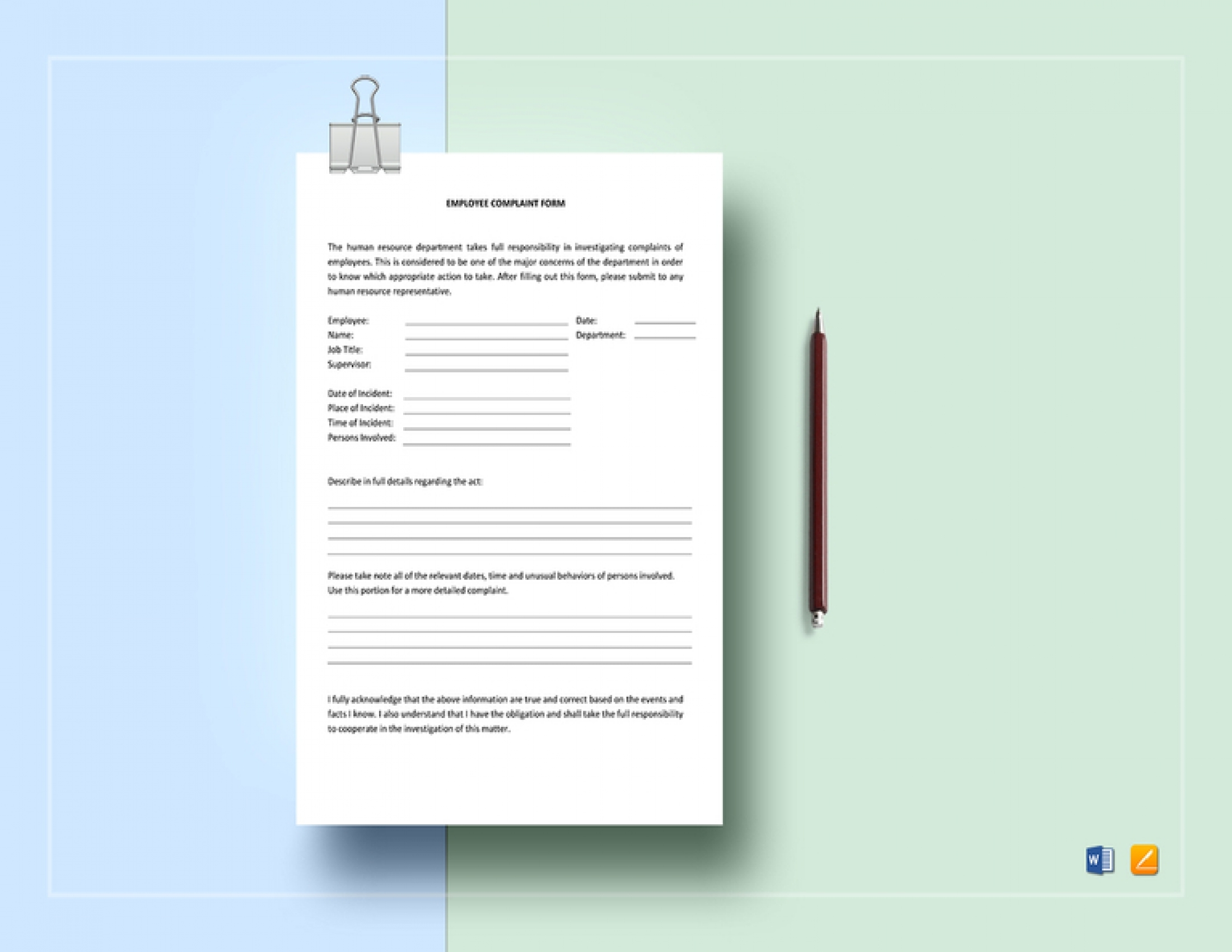 FREE 14+ Employee Complaint Forms in PSD | Word | PDF